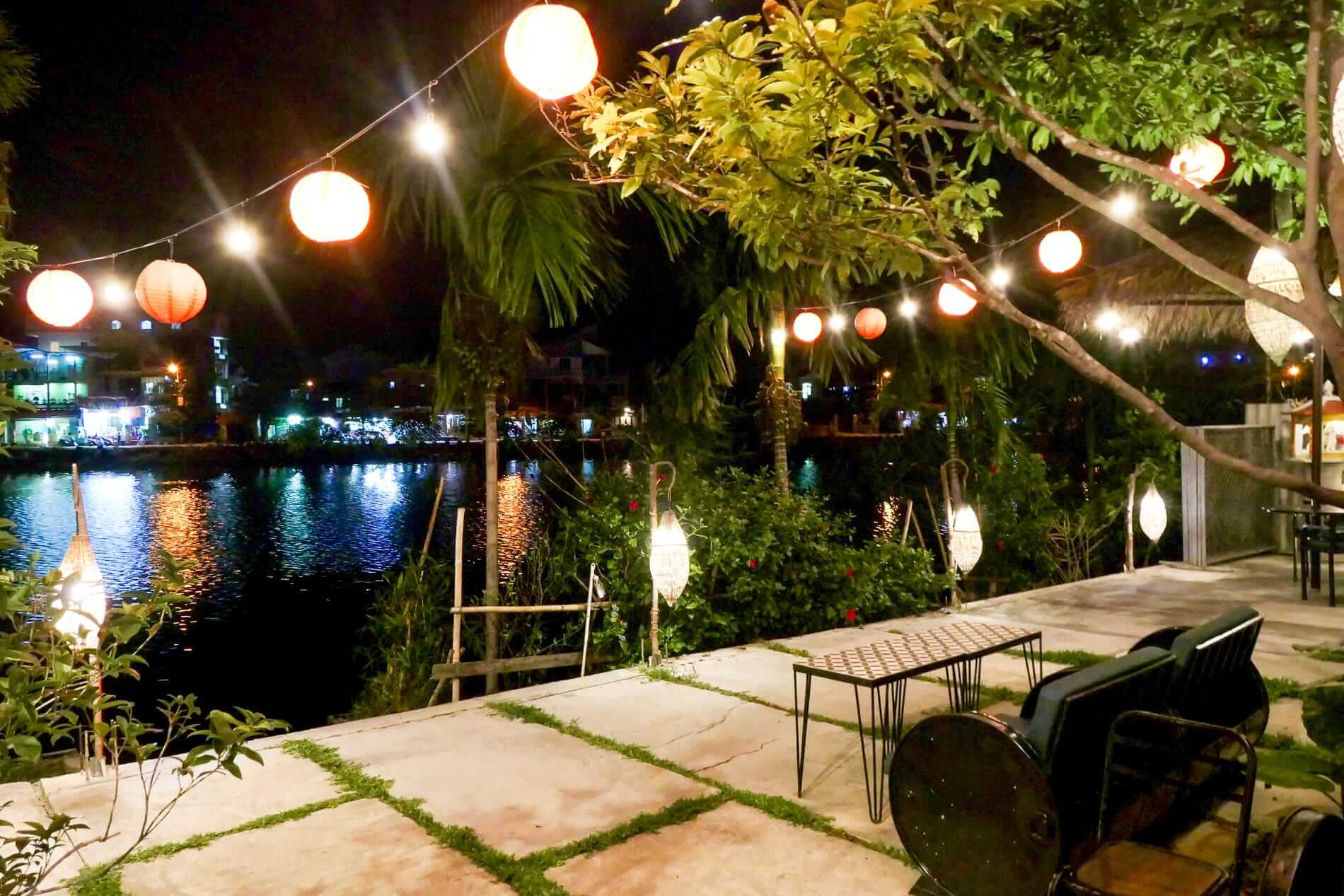 A wonderful night view from Hue Riverside Villa