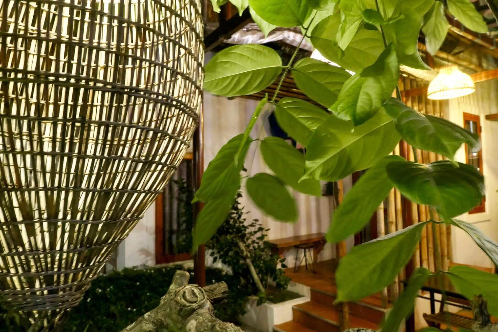 Bamboo decorations at Hue Riverside Villa