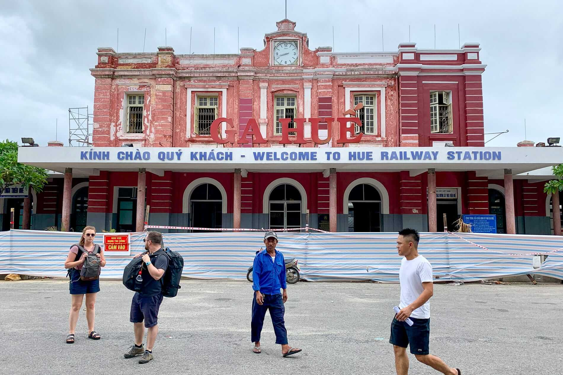 Hue Railway Station in the process of a facelift