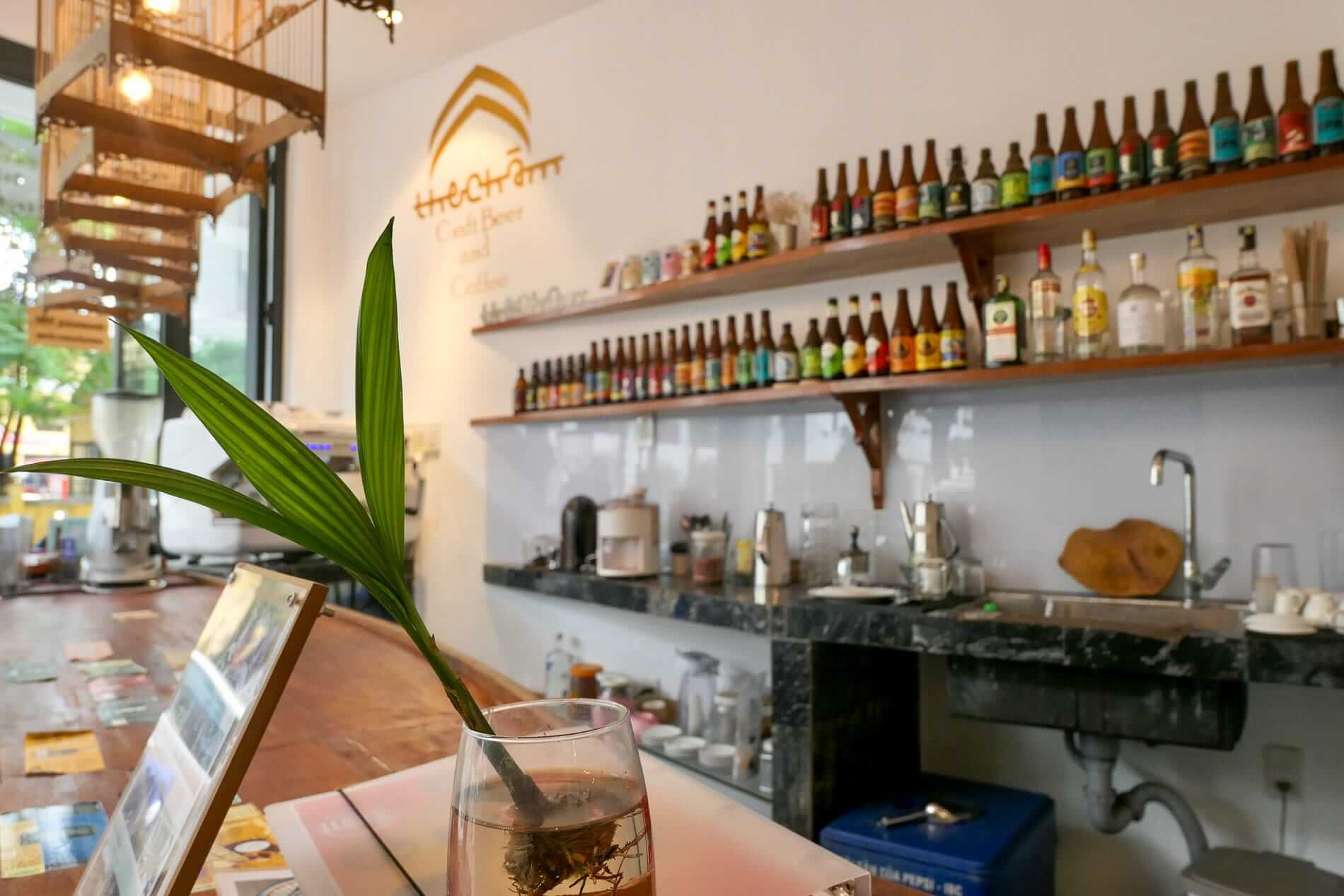 The reception and bar at Purple Hue BnB central