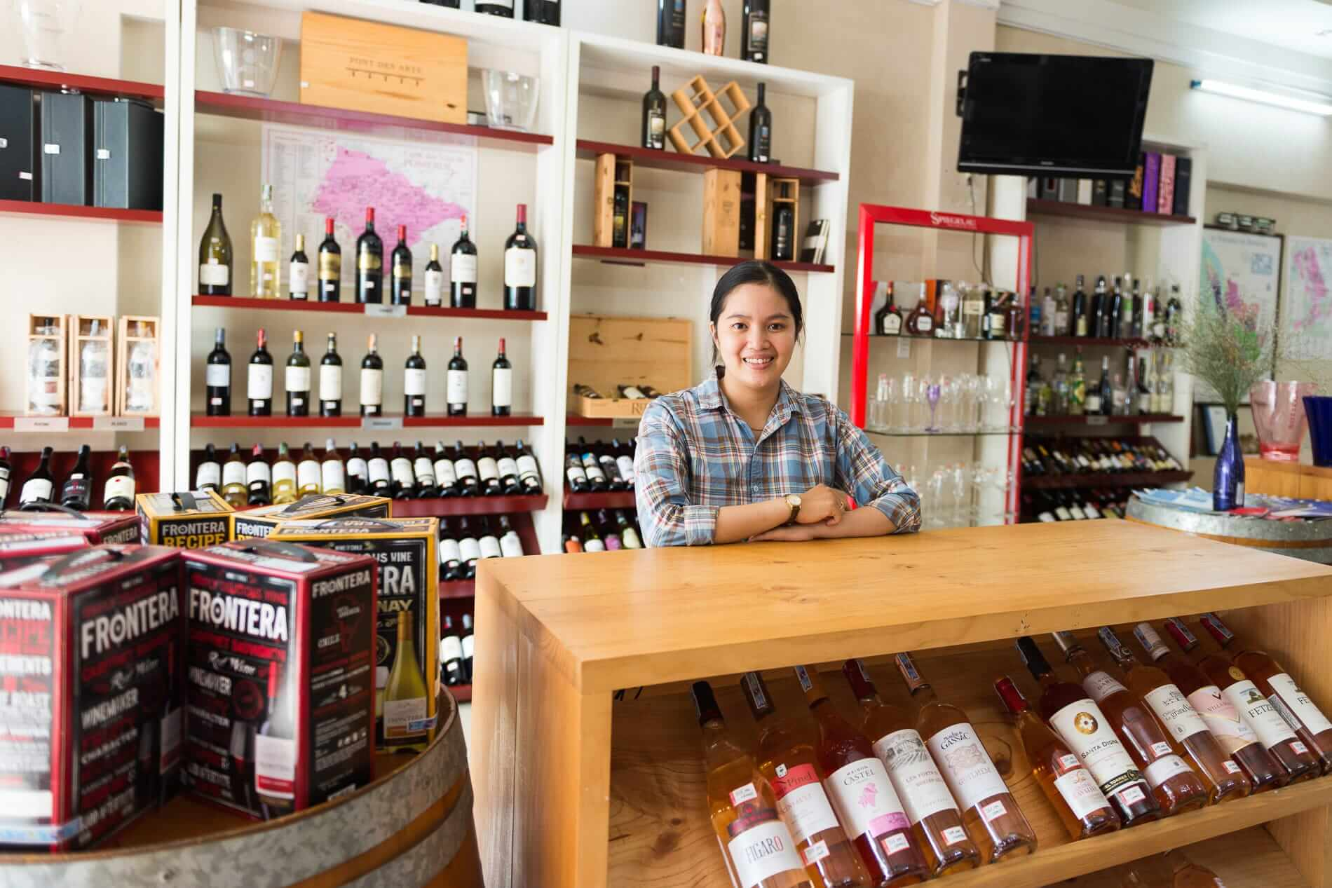Staff at Red Apron Wine Shop