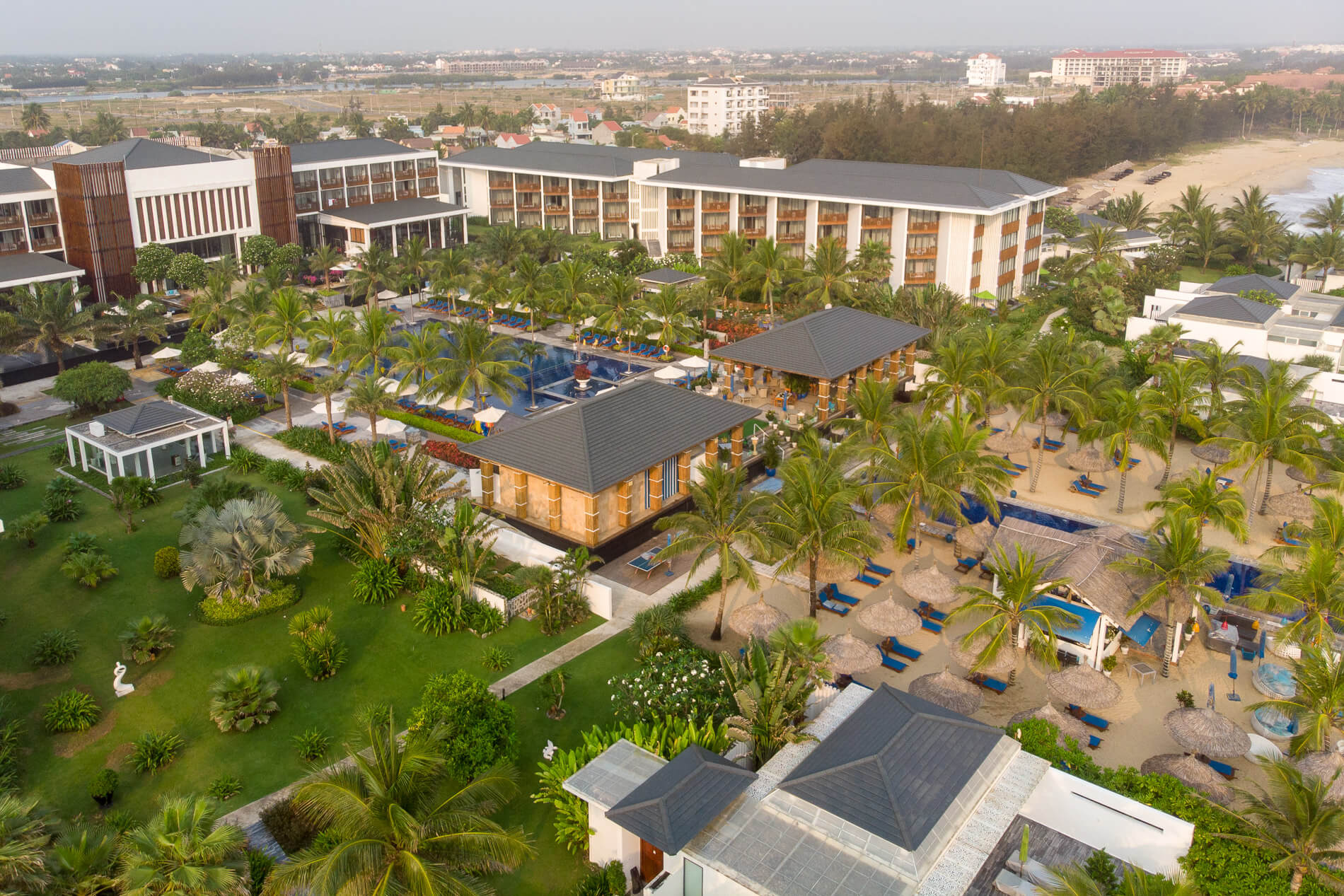 aerial view of Sunrise Premium Resort Hoi An