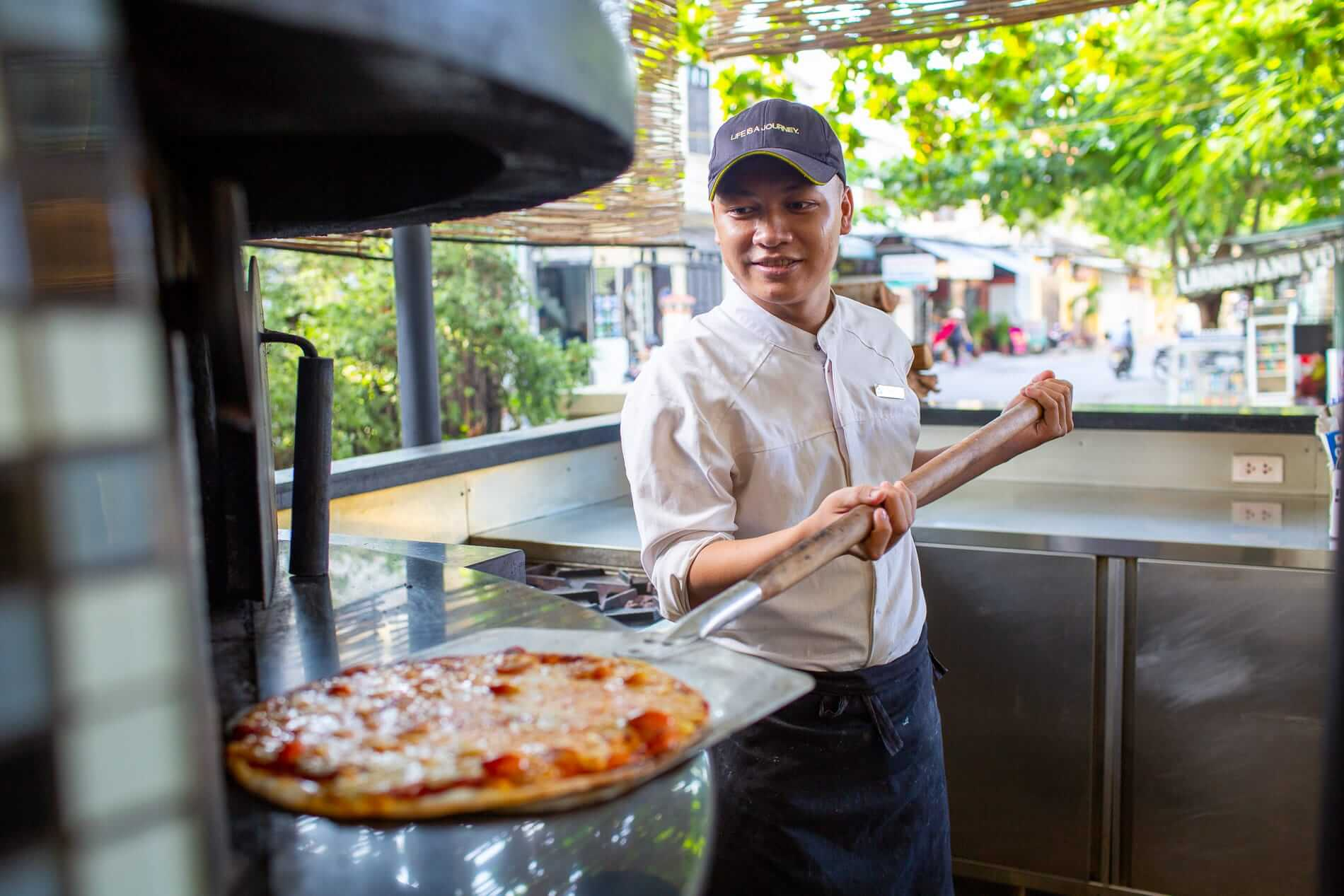 Art Space's woodfired pizza oven