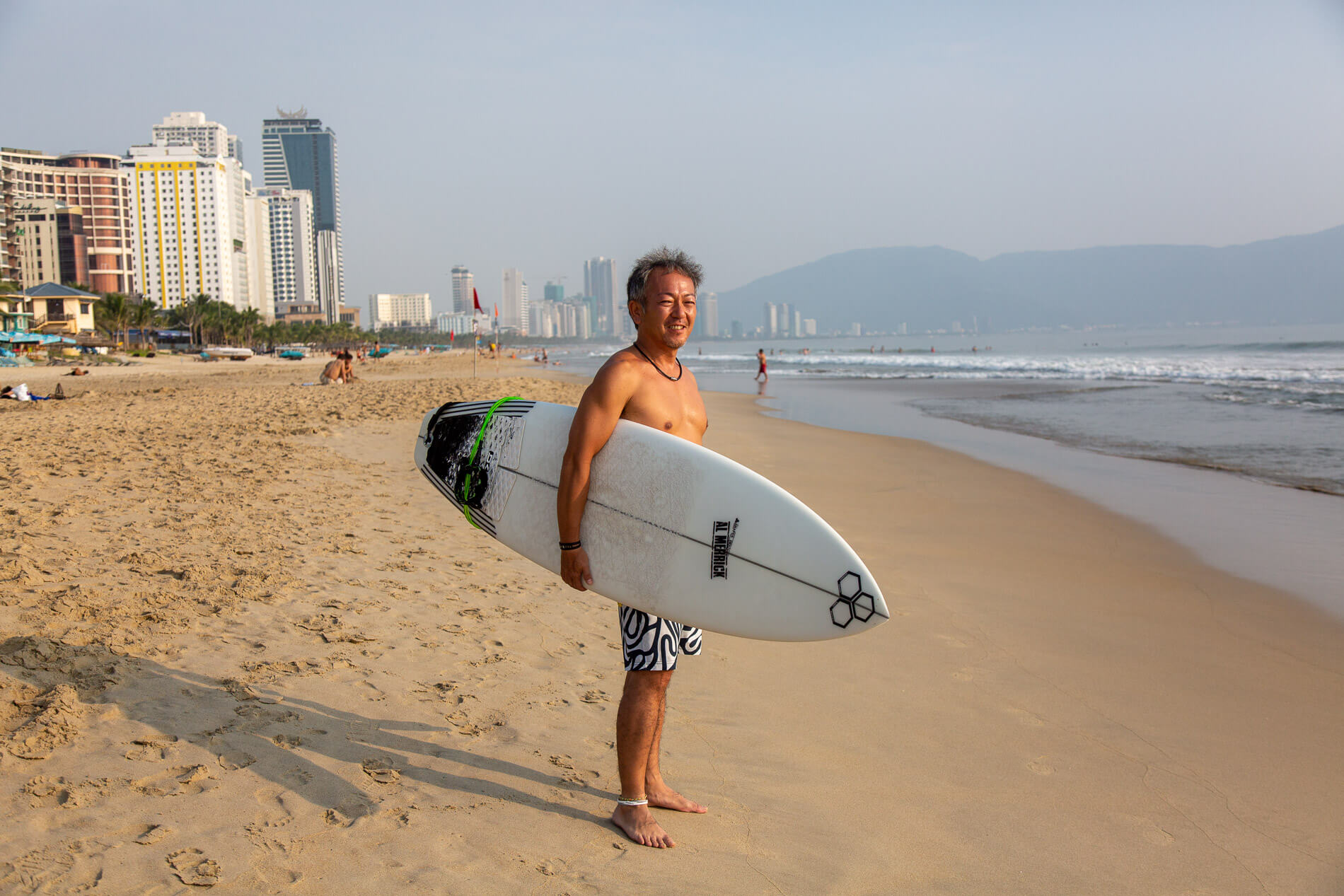 A surfer in Da Nang