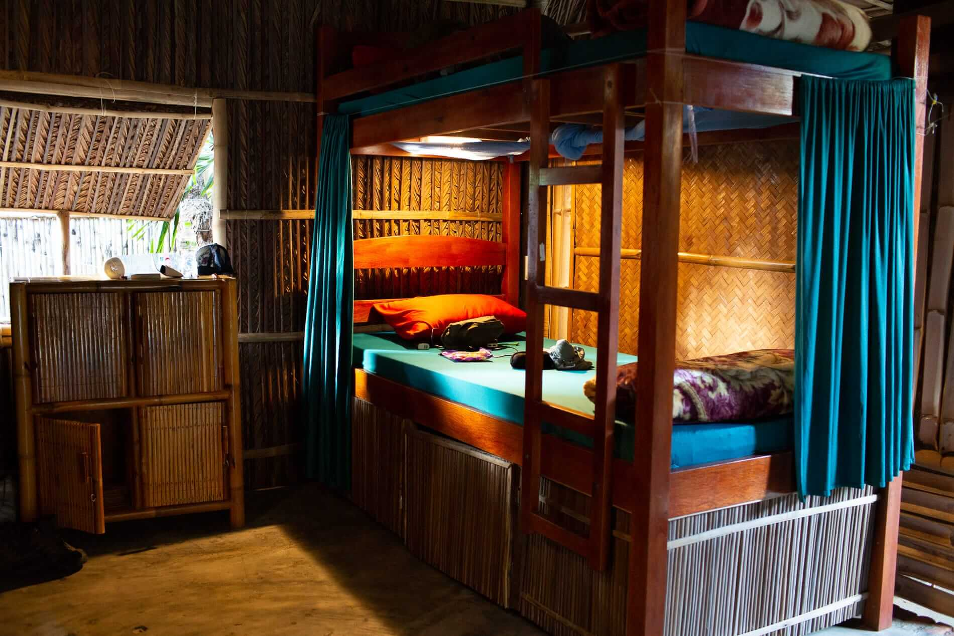 Bunks at Under The Coconut Tree Hostel