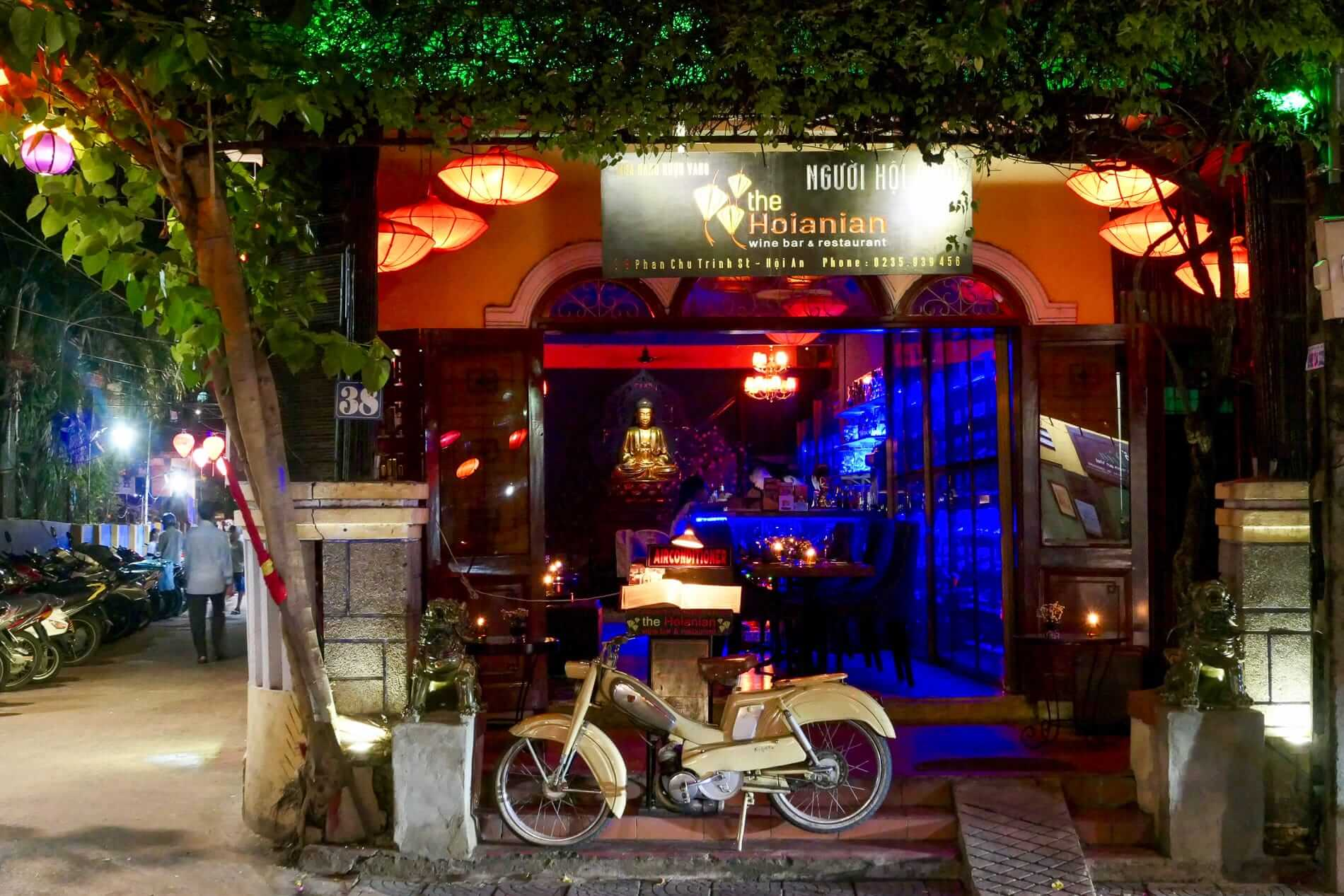 A view of The Hoianian Wine Bar in Hoi An