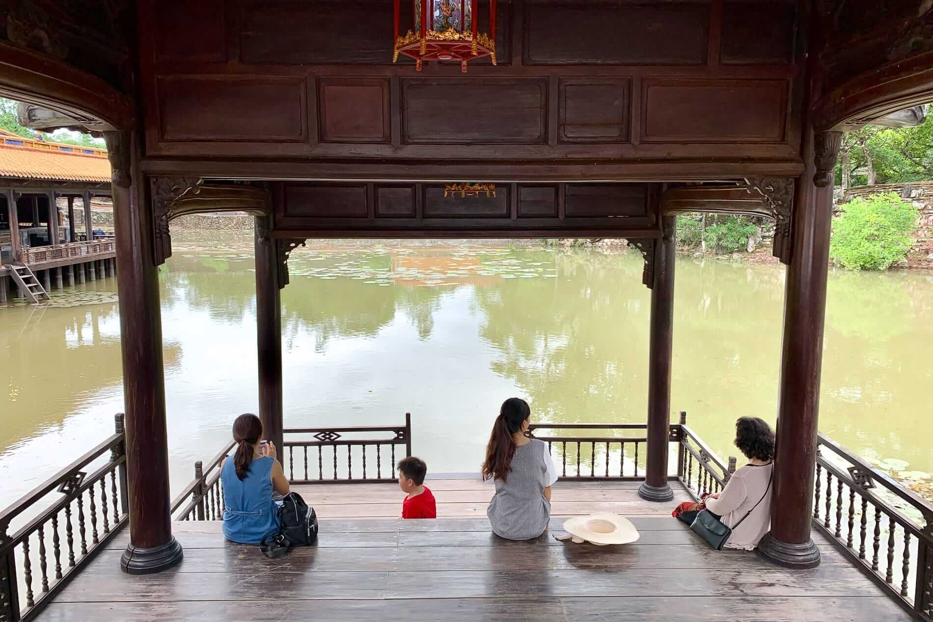 A quiet spot by the lake at Tu Duc Imperial Tomb