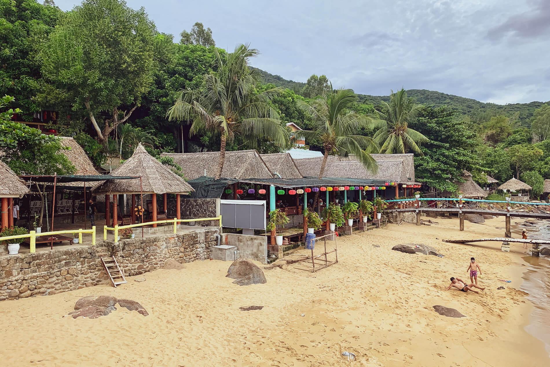 Bai Rang Beach beachfront restaurant