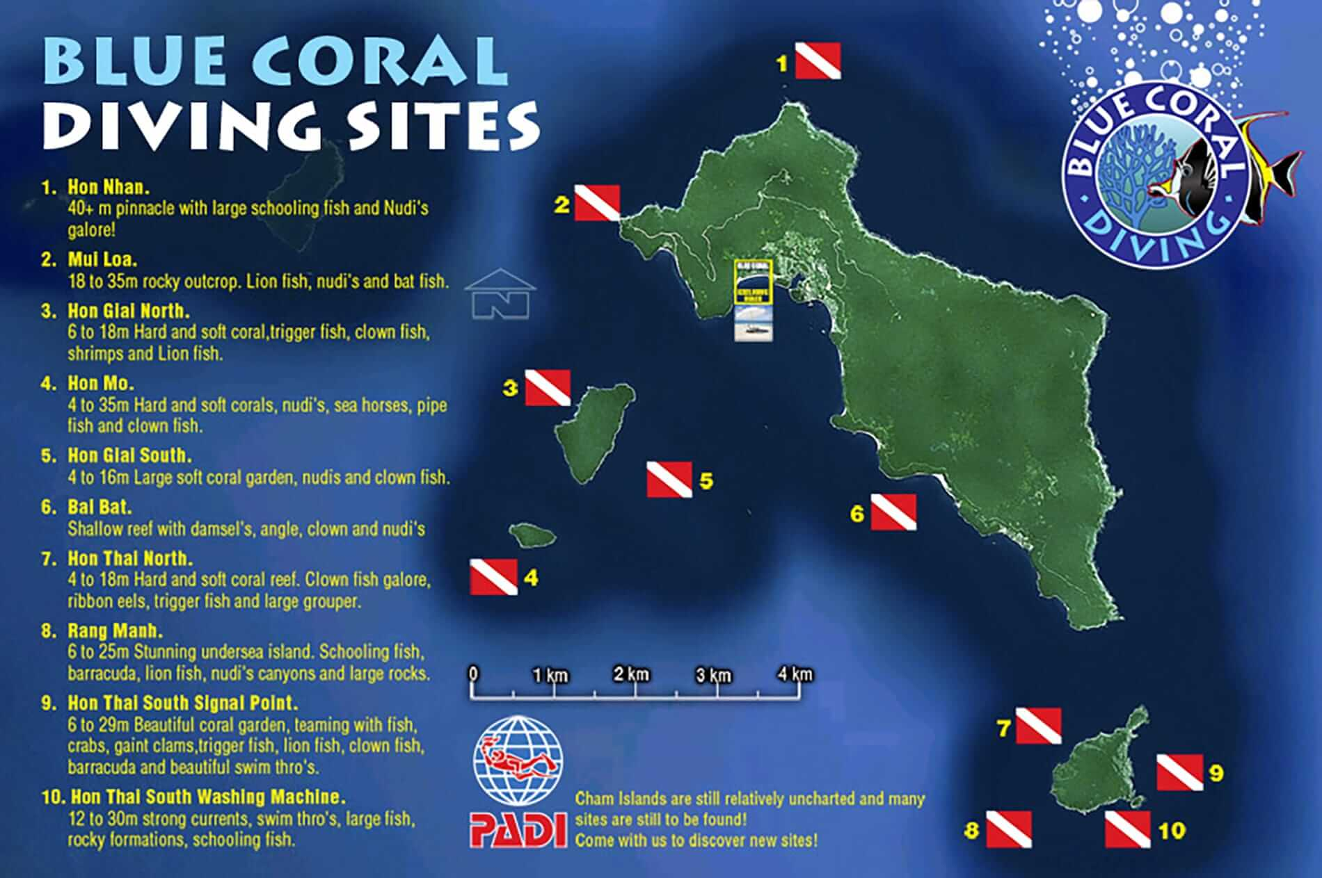 Blue Coral dive map