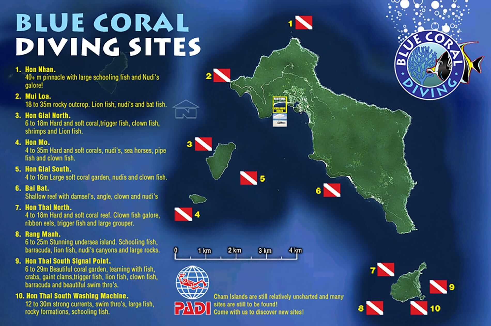 Blue Coral dive map