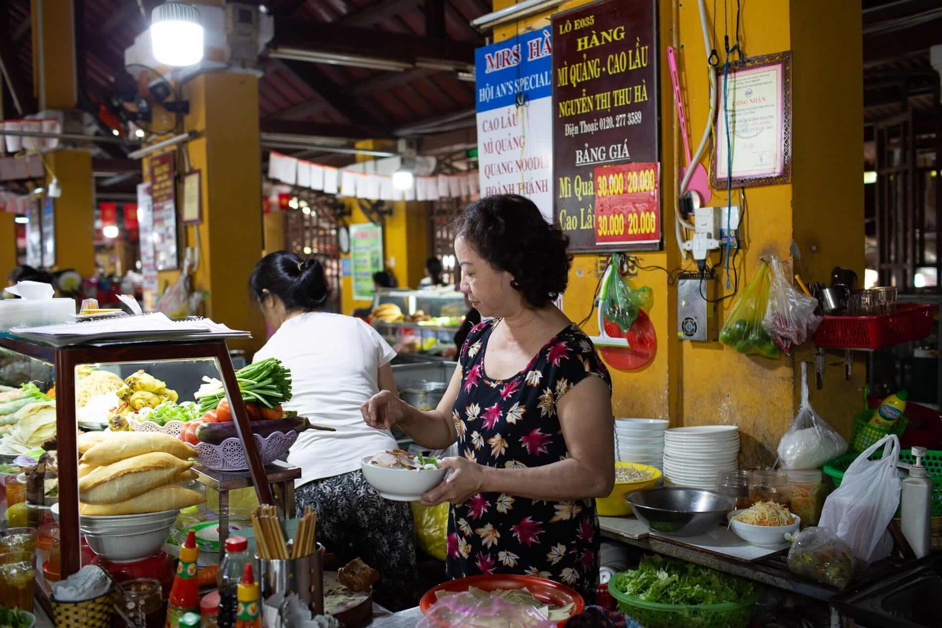 Mrs Ha makes a bowl of her popular Cao Lau
