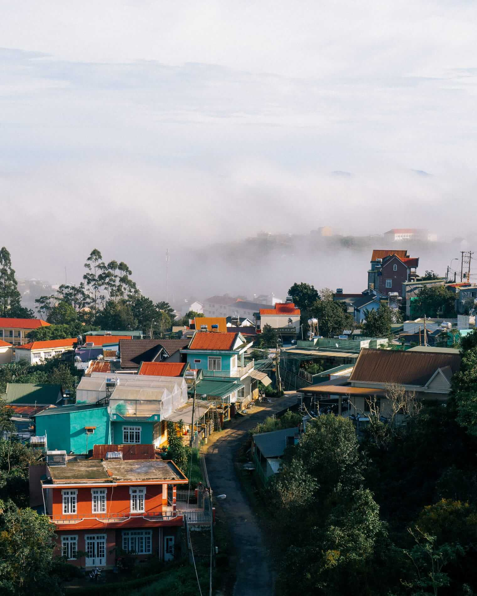 A cloudy day at Da Lat City