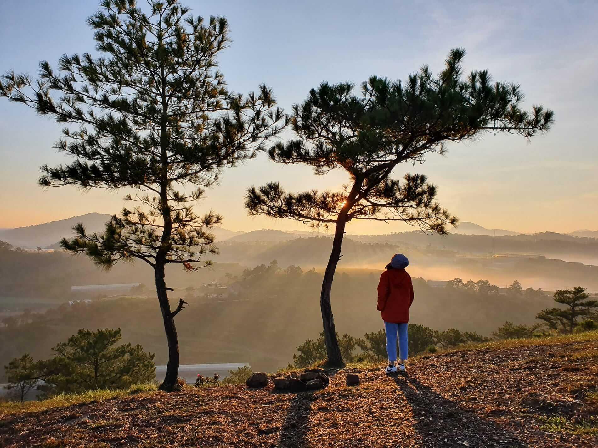 A hiker enjoying the beauty of Da Lat