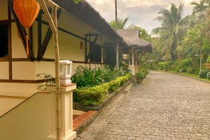 Thatched bungalows at the Son Tra Resort