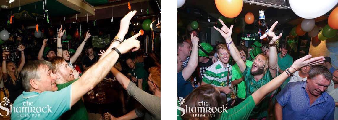 Irish pub fans