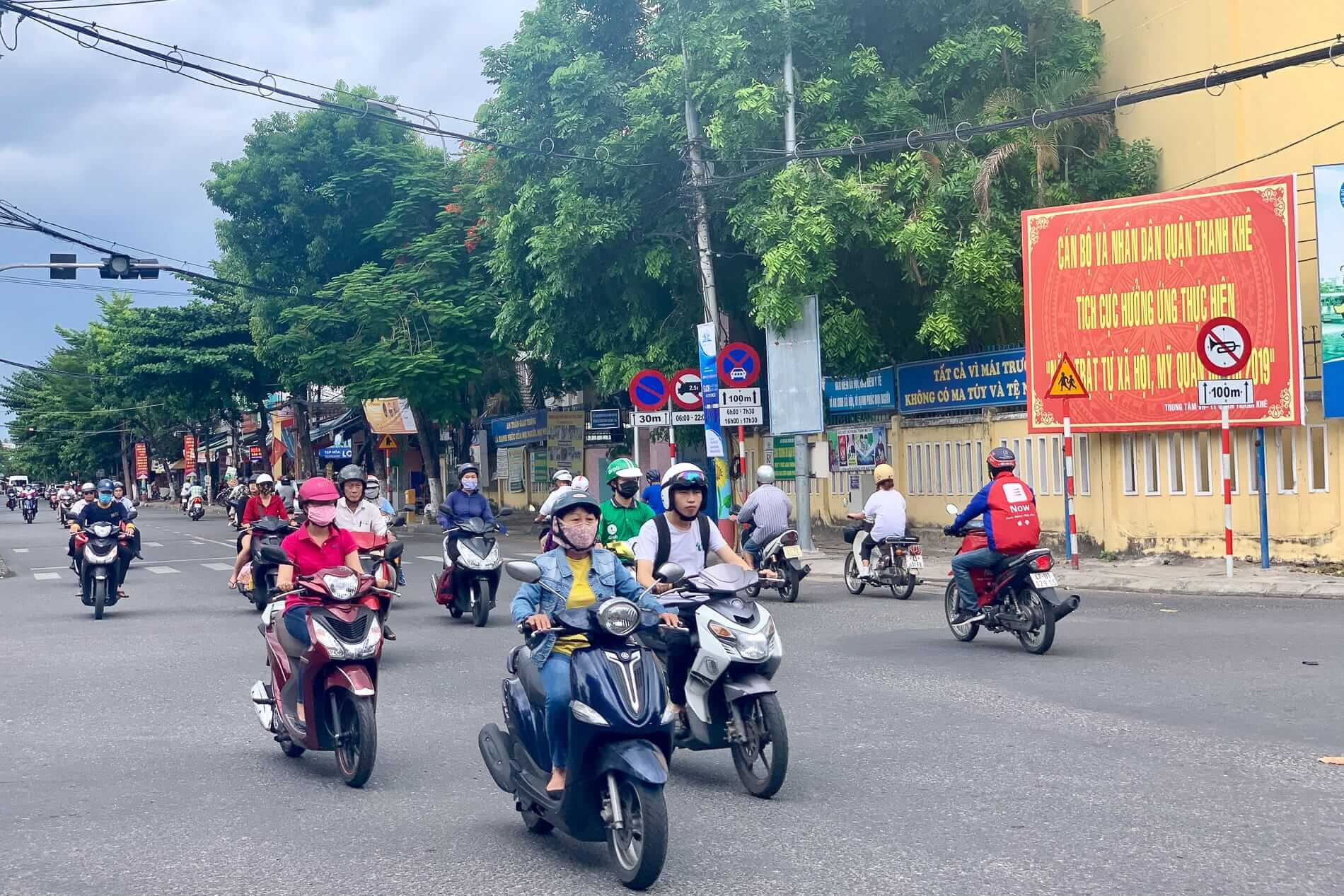 Motorbikes on the streets of Da Nang