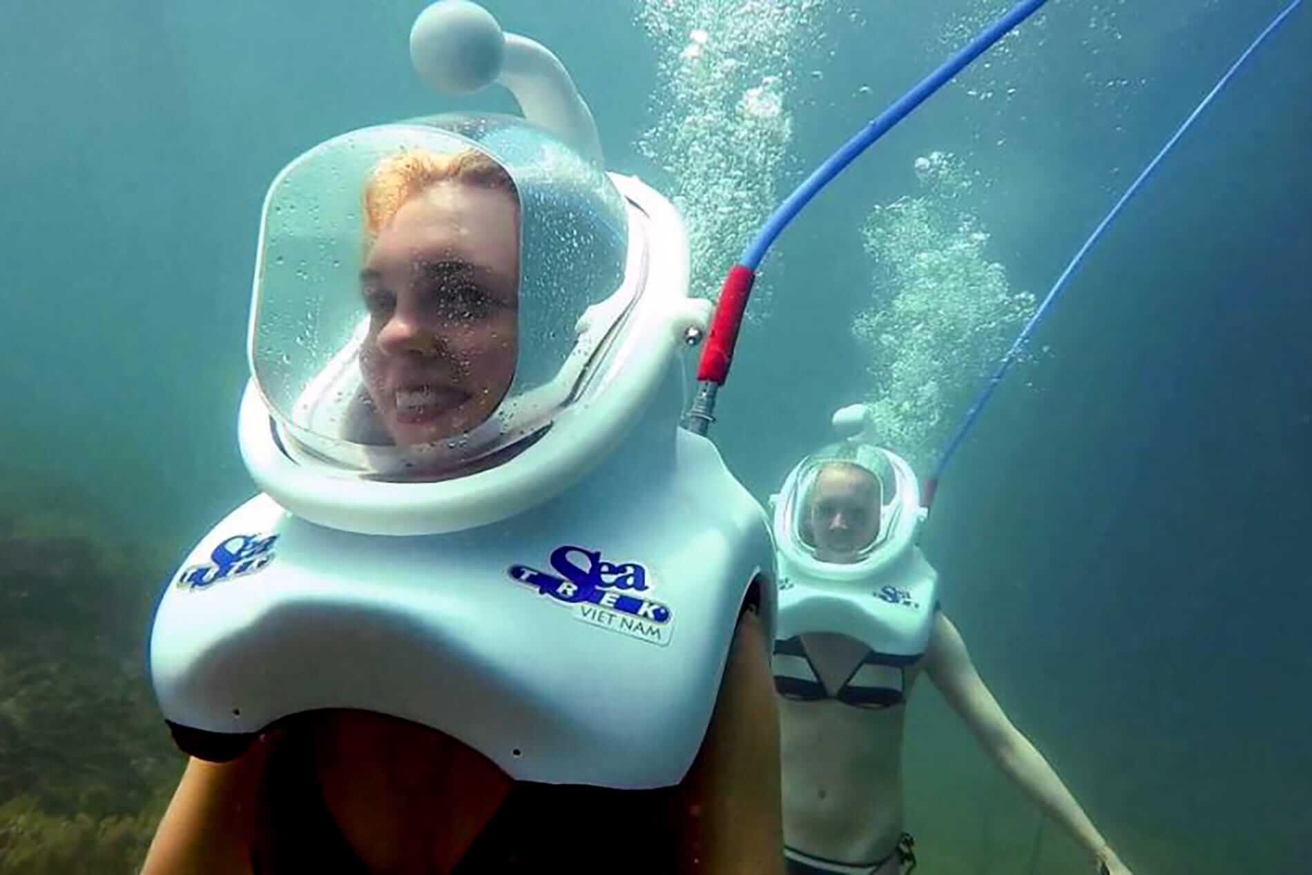 Sea Trek dive helmets