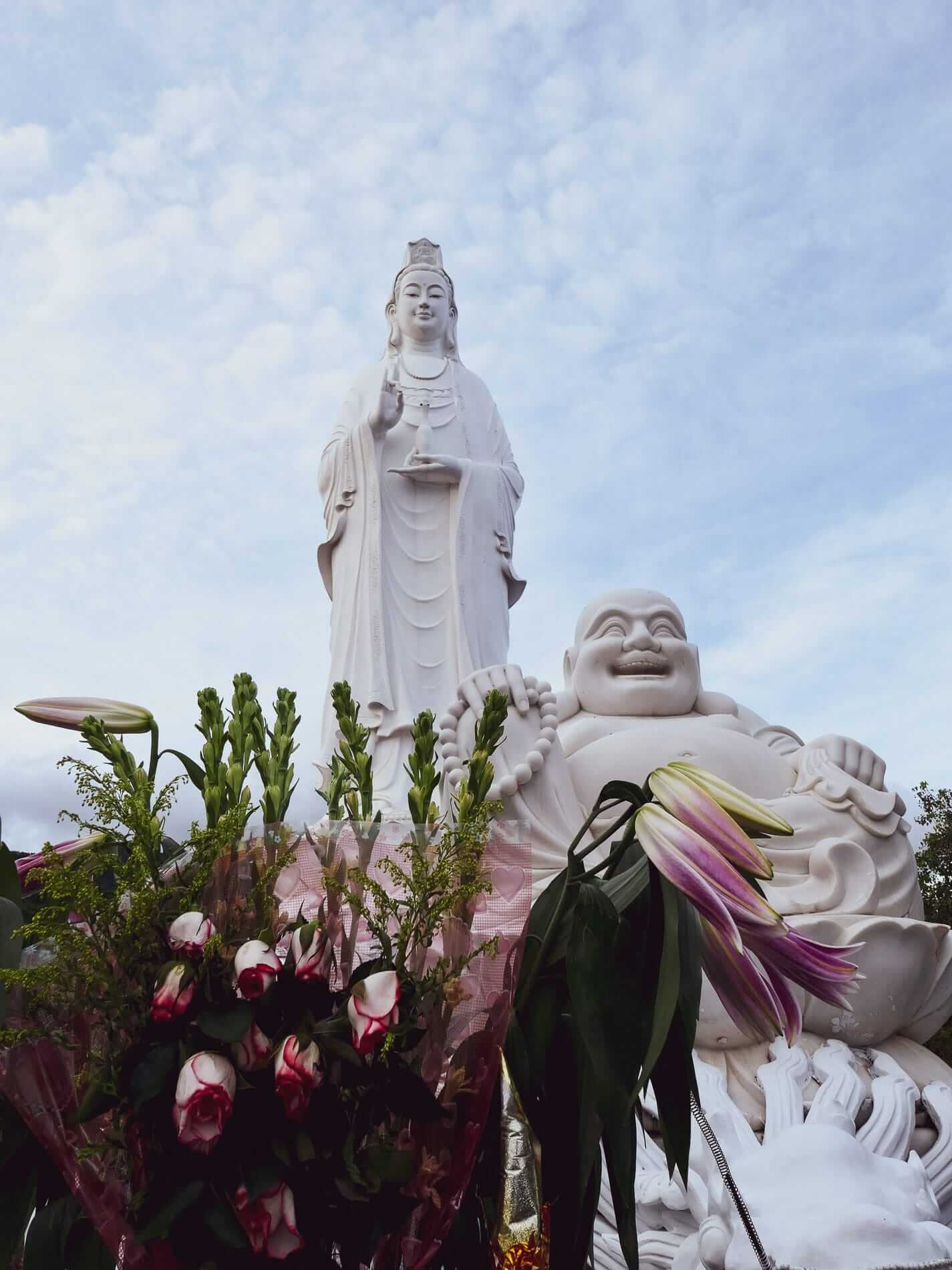 The 67 meter Lady Buddha sits on Son Tra Peninsula