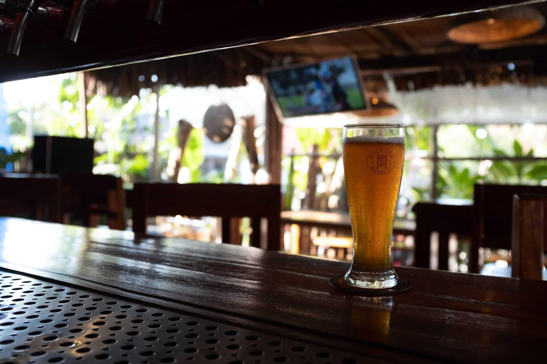 Beer and sport at An Bang Beach