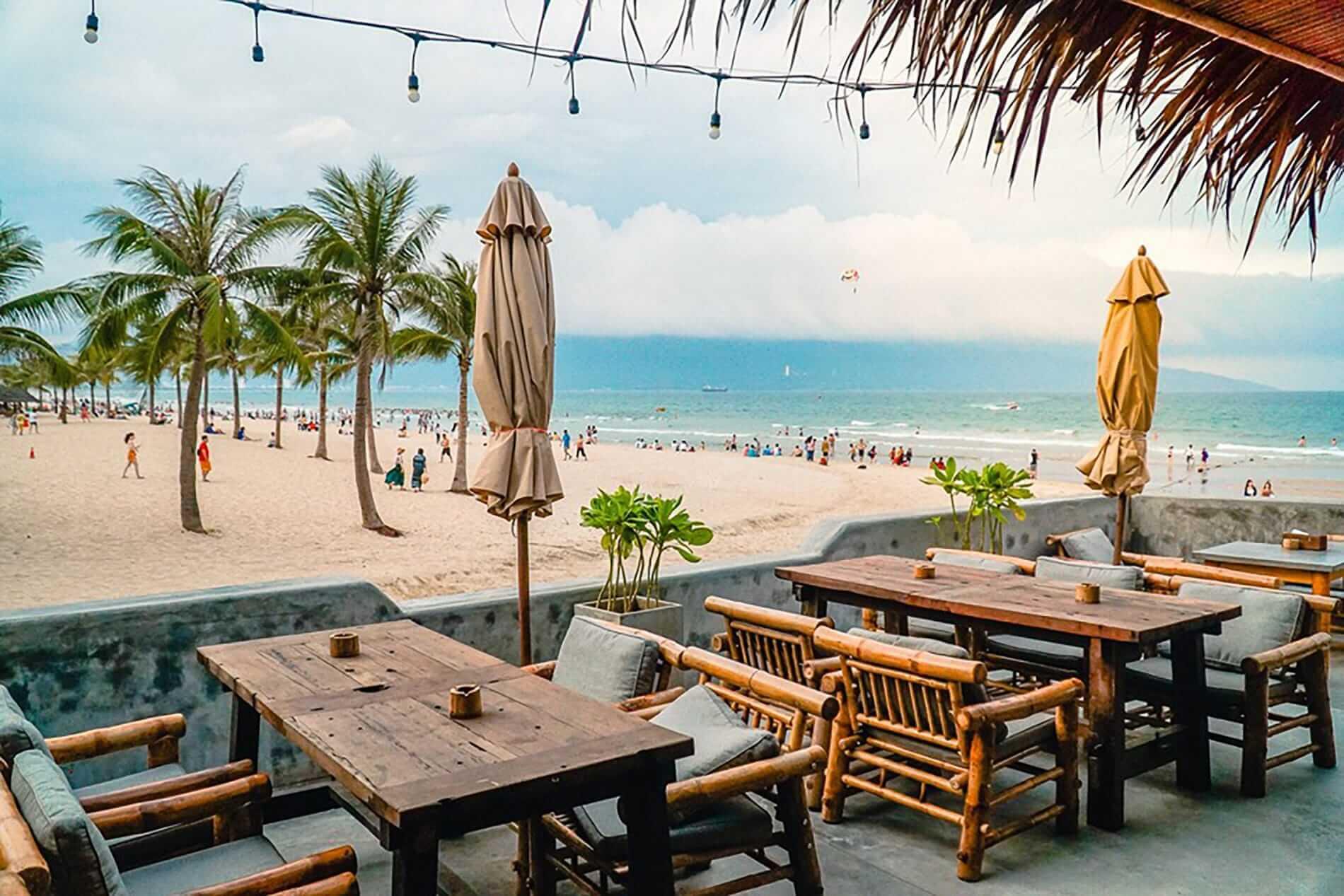 beachside decking overlooking the beach at Apocalypse Beach Club