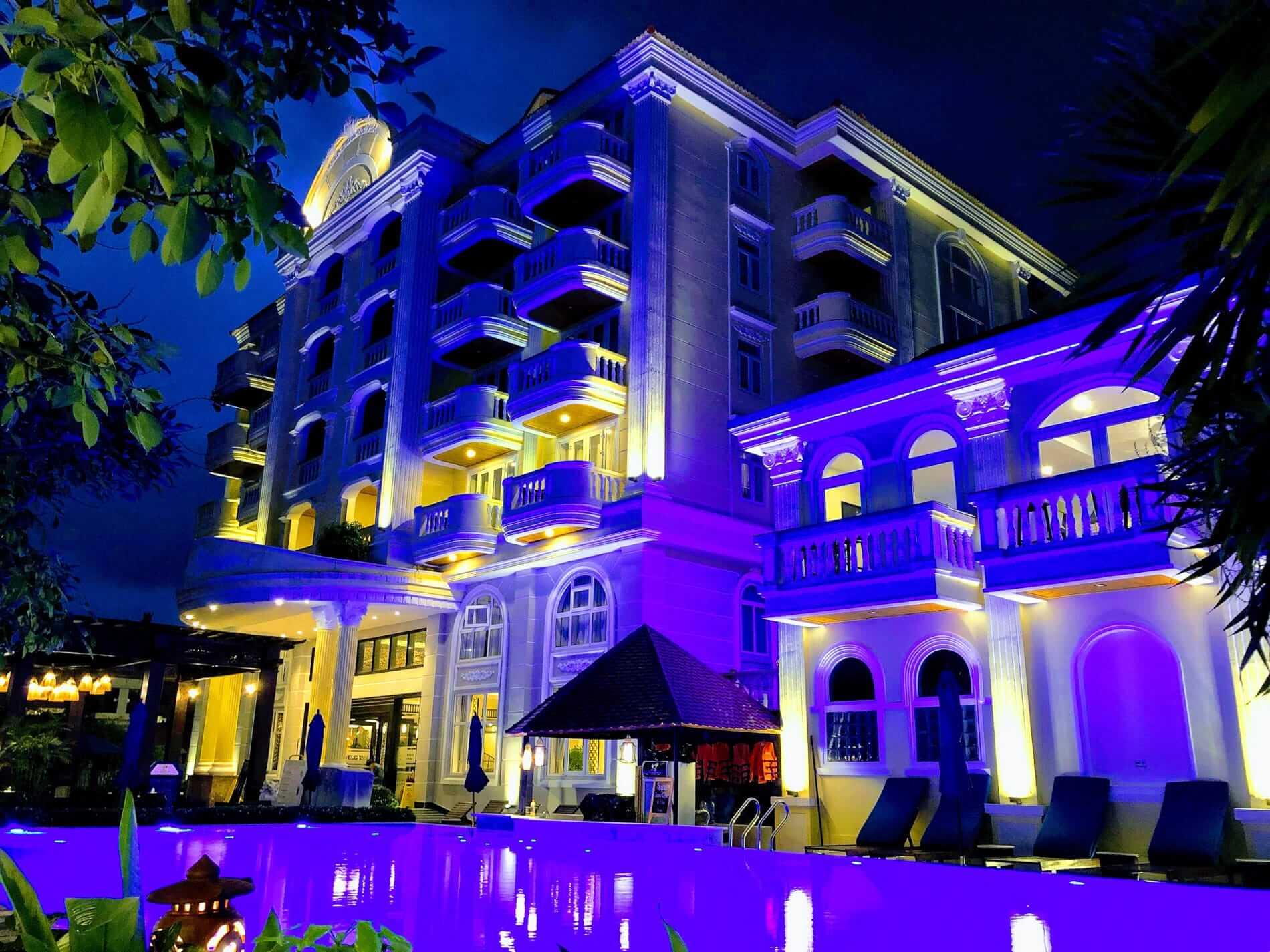 A blue night at Le Pavillon Hoi An