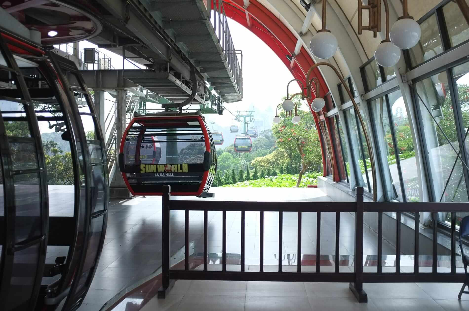 Entrance to the cable cars