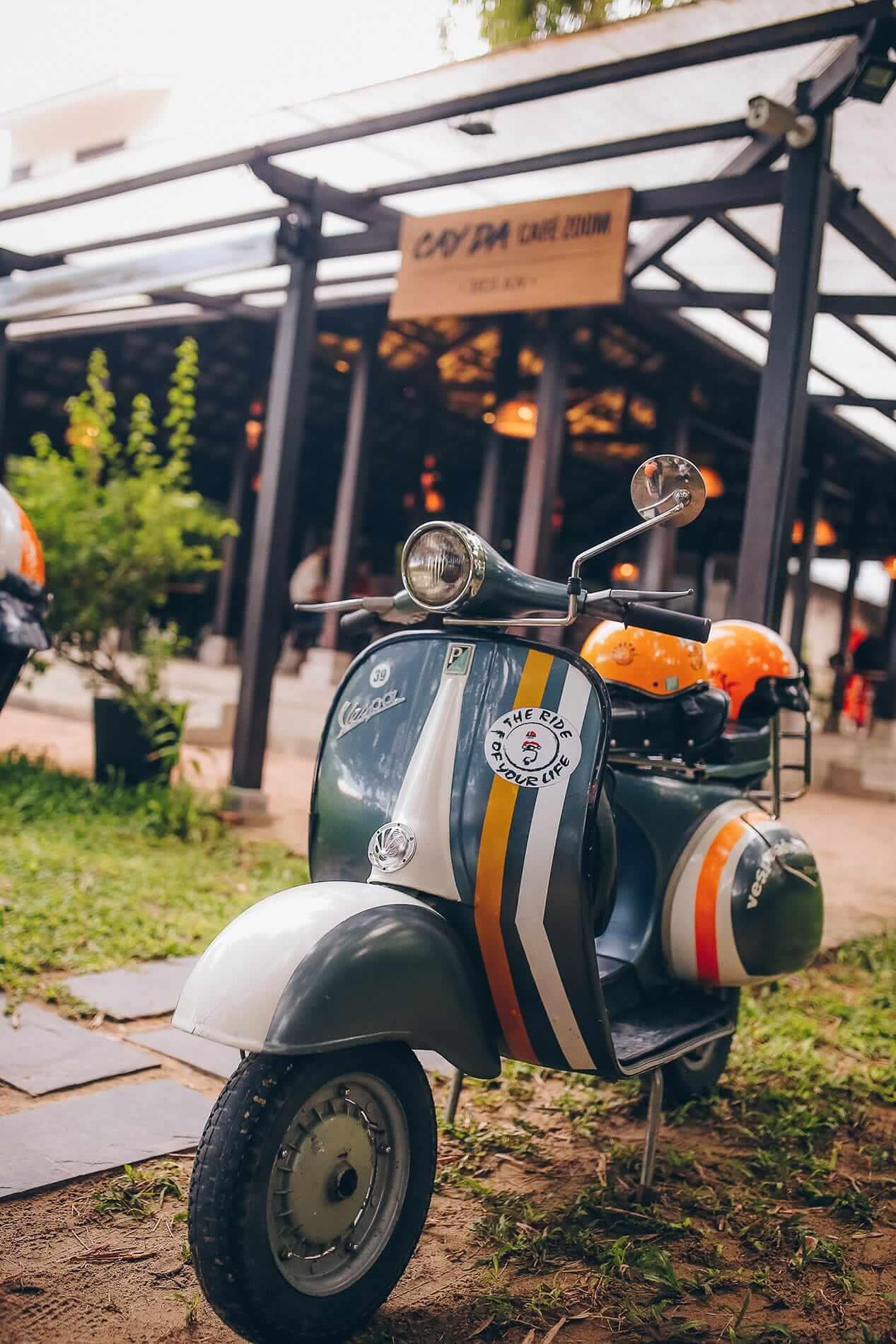 Vespa Adventures scooter