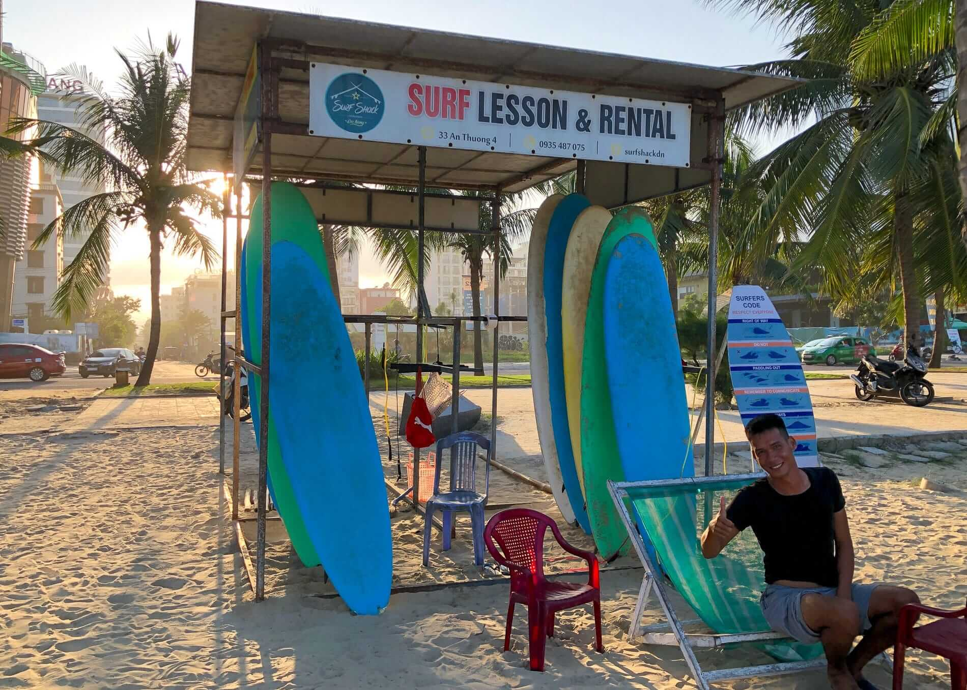 surf rental at Surf Shack