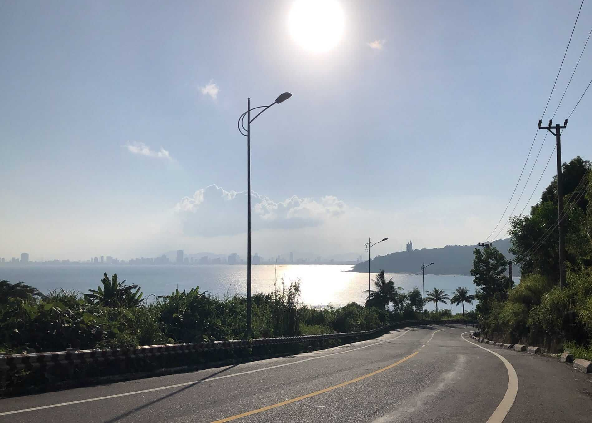 the highway going to Lady Buddha on Son Tra Peninsula