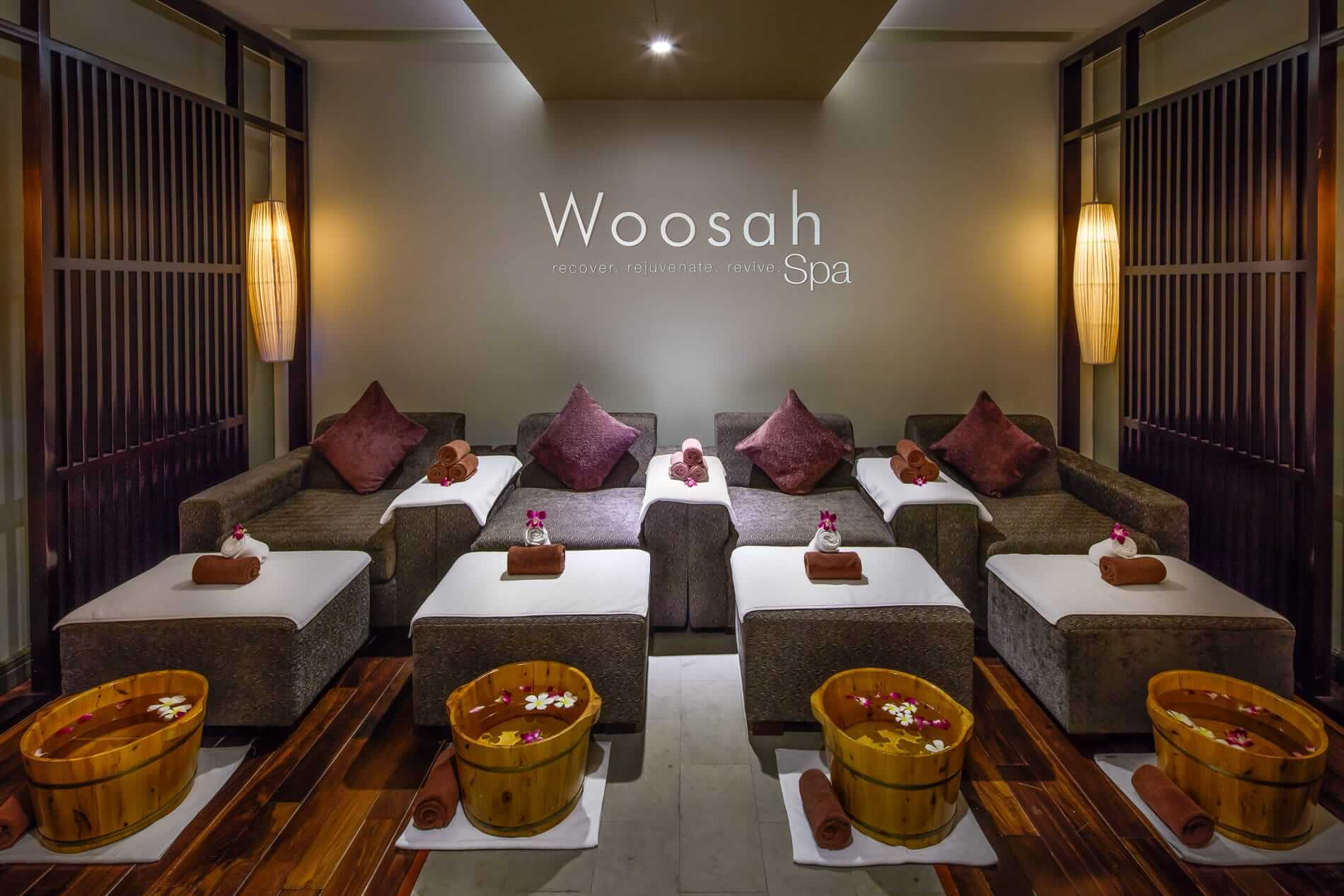 A treatment room at Woosah Spa