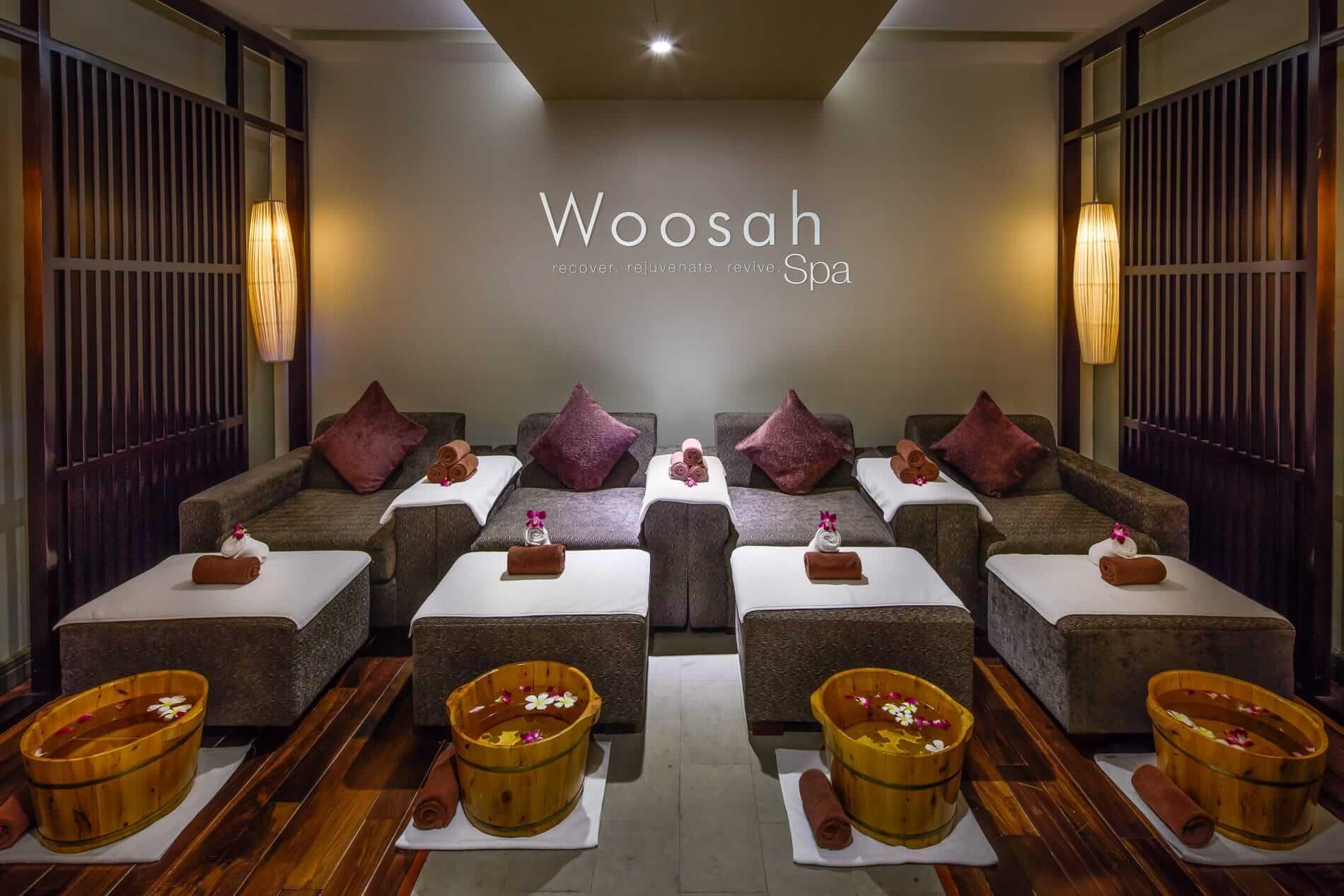 A treatment room at Woosah Spa