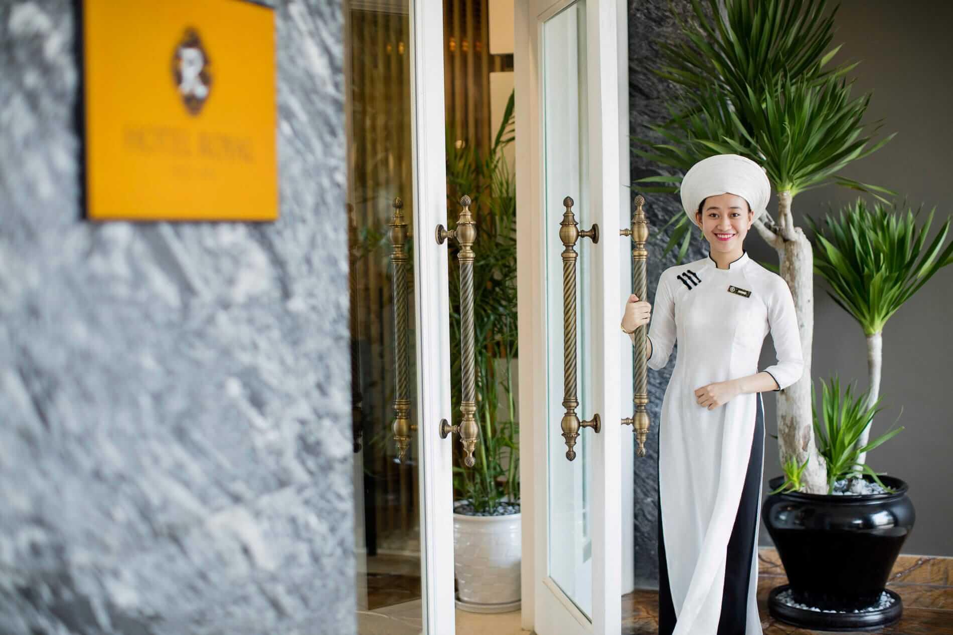 Welcoming guests at Hotel Royal Hoi An