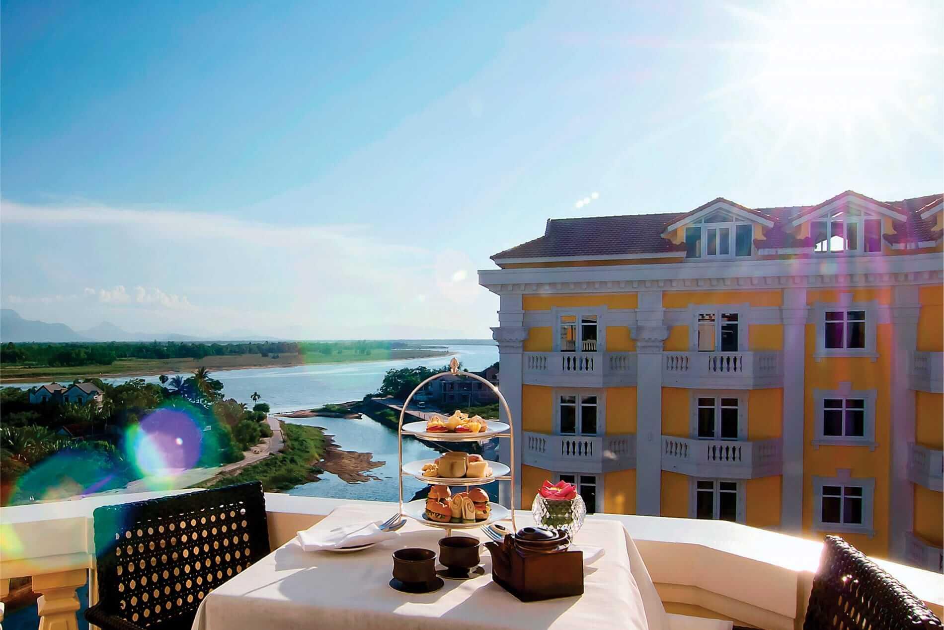 balcony setting at Woosah Spa in Hoi An