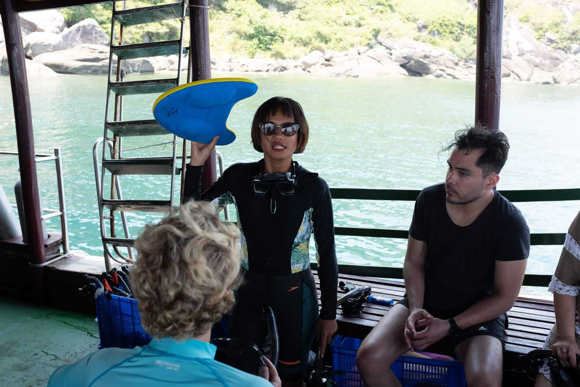Snorkelling instructor gives pointers on safety