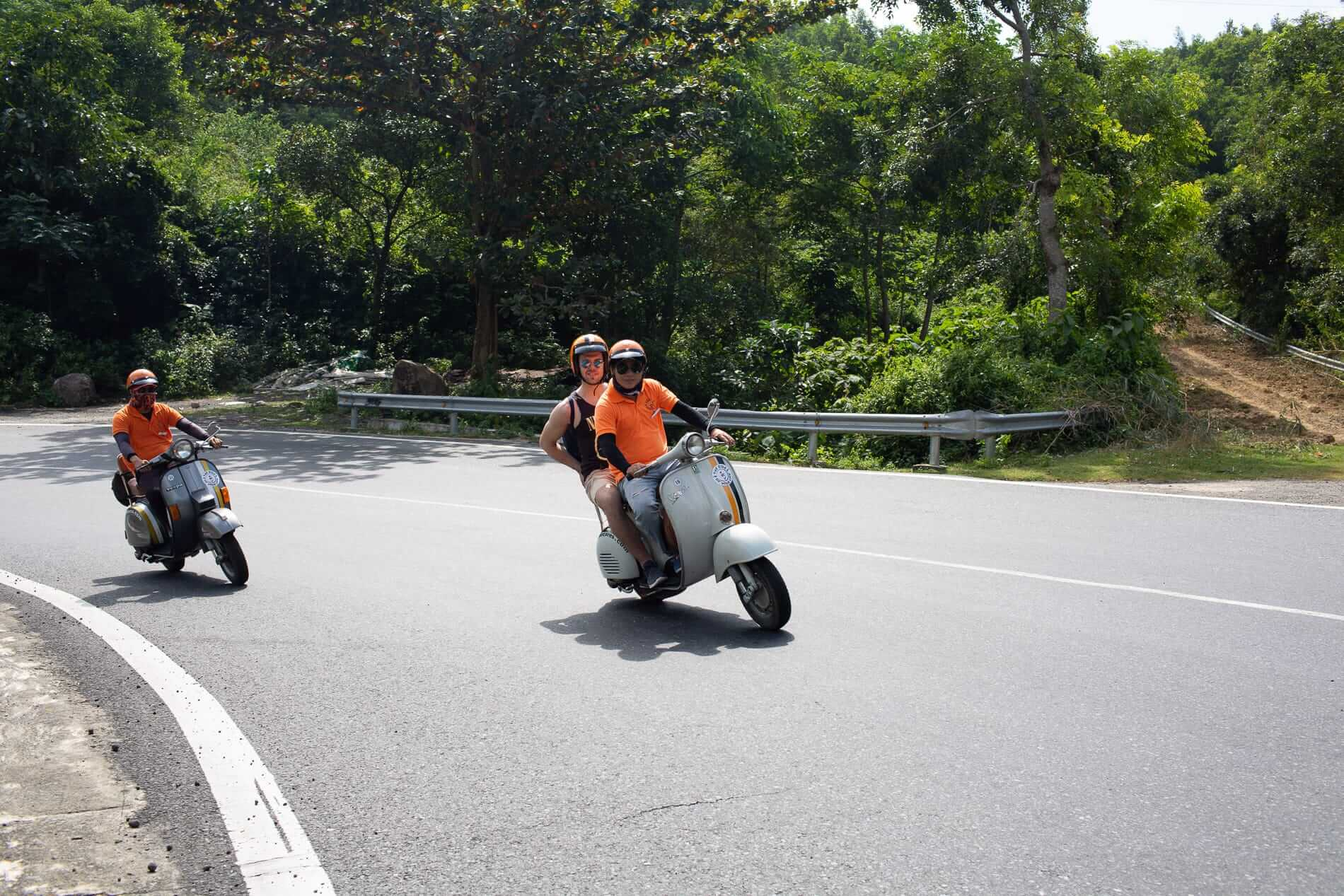 going on a tour on a Vespa over the Hai Van Pass