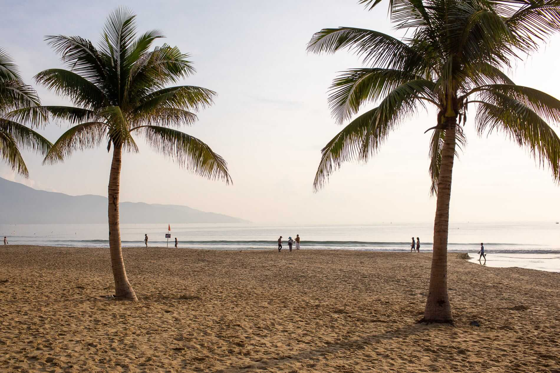 early risers at the beach of Da Nang