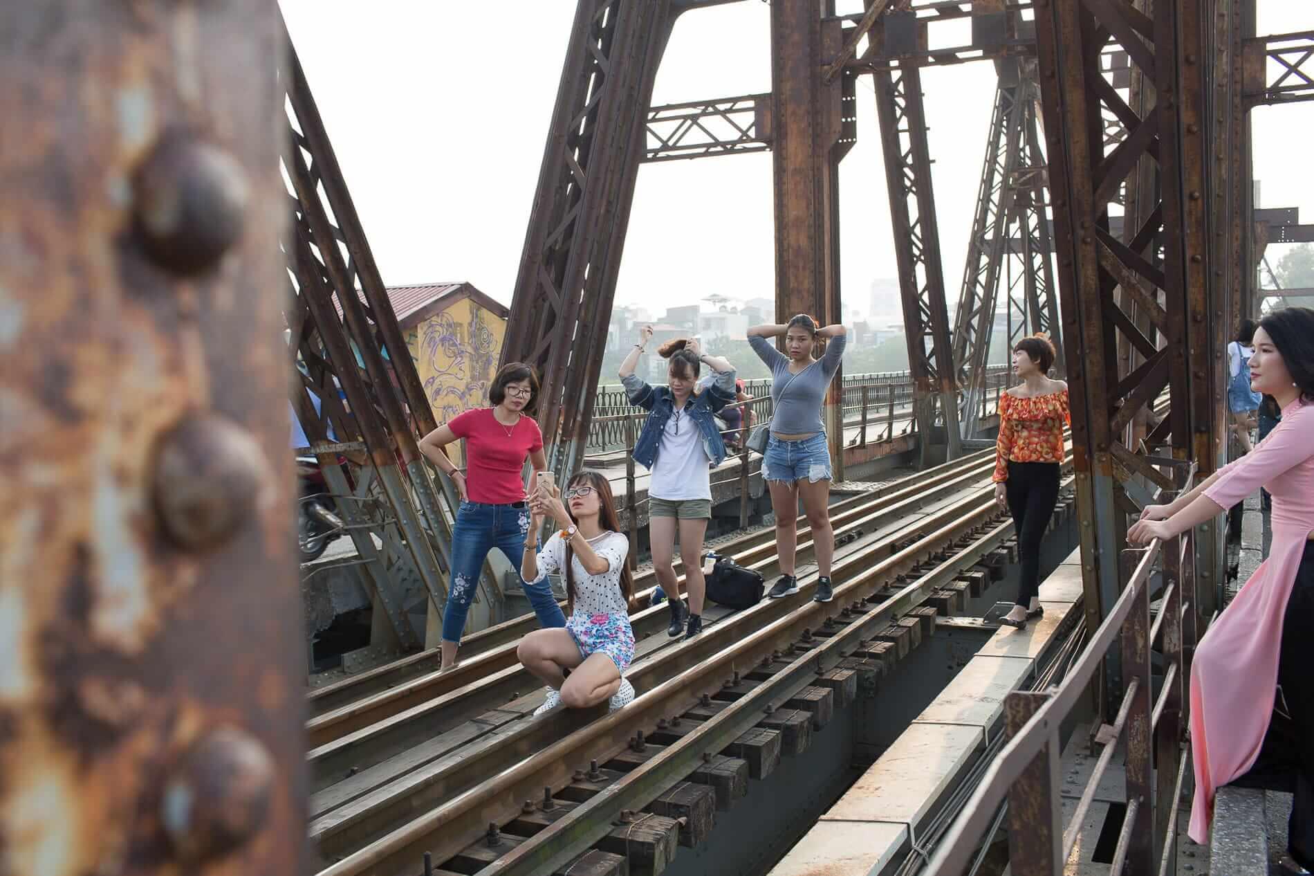 Long Bien Bridge in Hanoi City