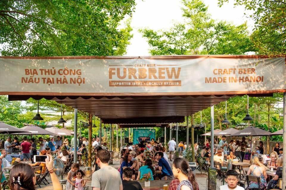 Furbrew Craft Beer garden event in Hanoi
