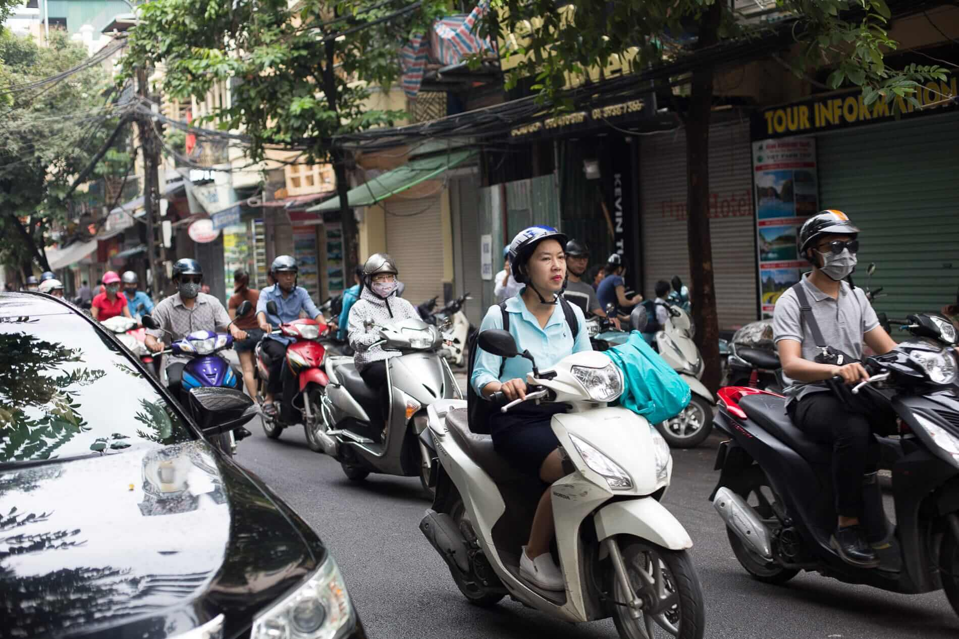 A busy day in Hanoi City