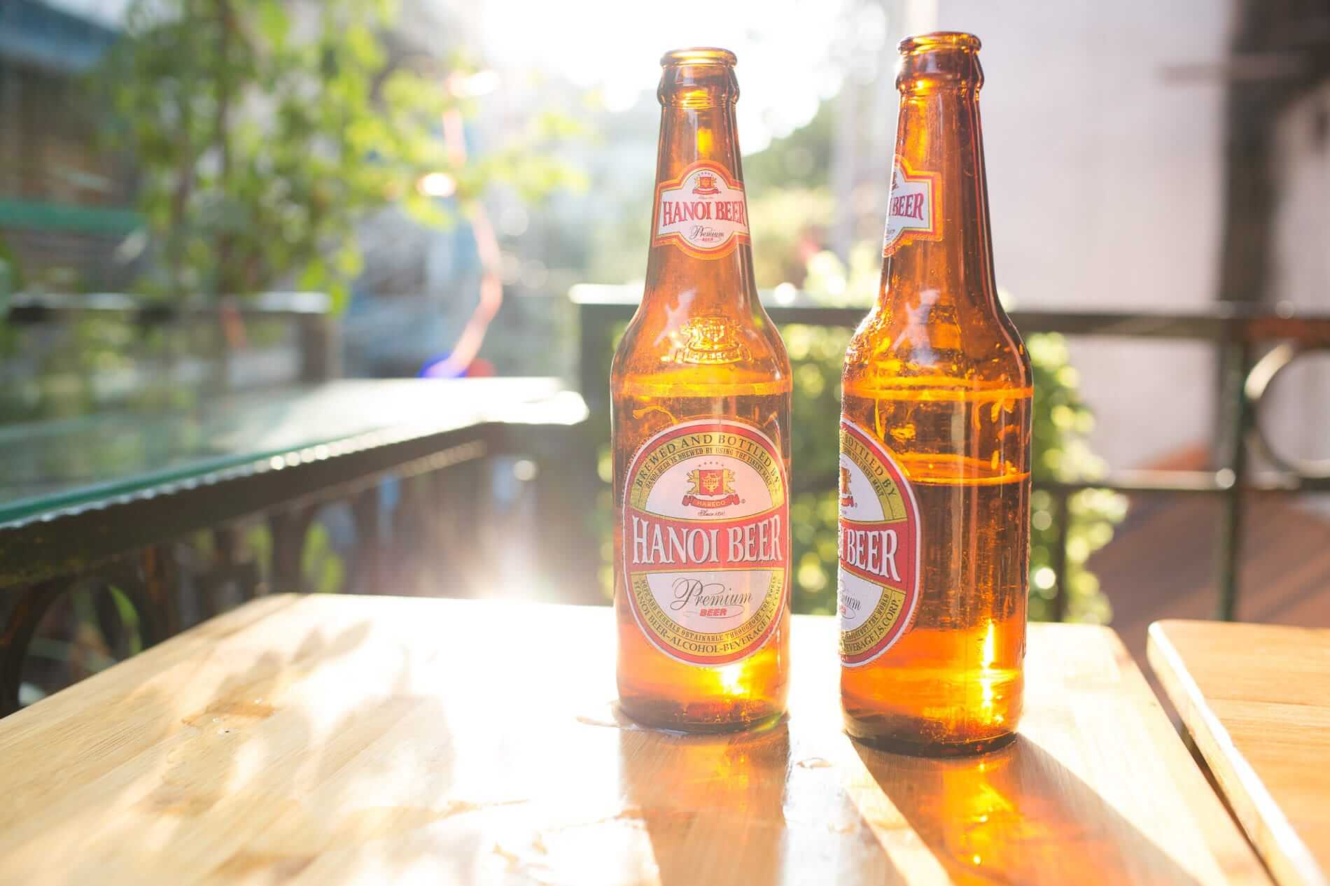Hanoi Beer on display