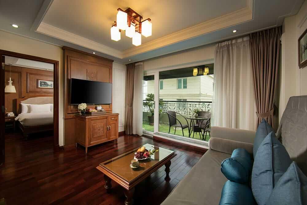 Hanoi Pearl Hotel terrace suite
