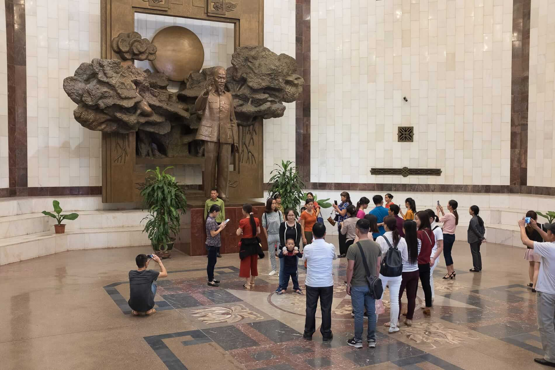 The Ho Chi Minh museum packed with tourists