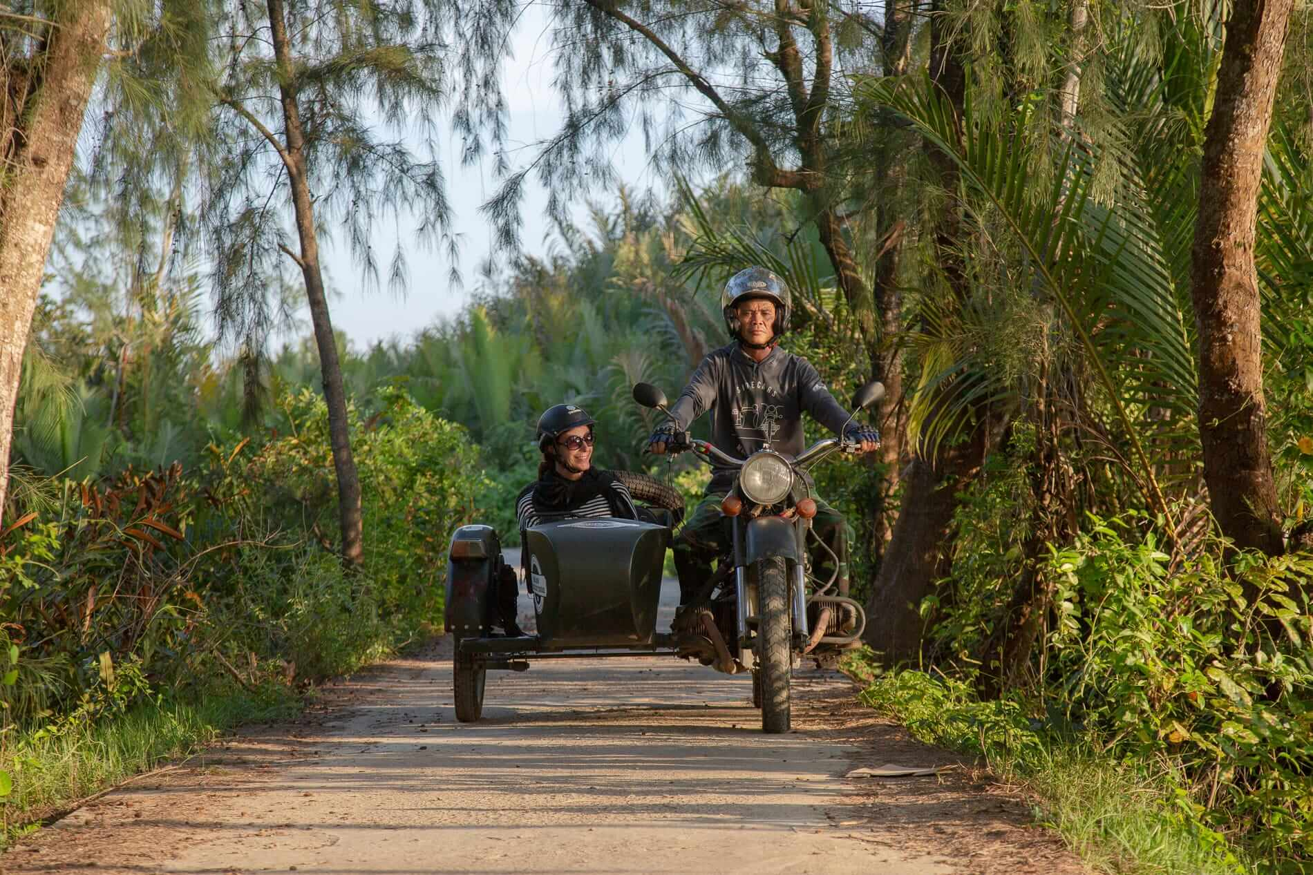 Going on a sidecar tour in Hoi An
