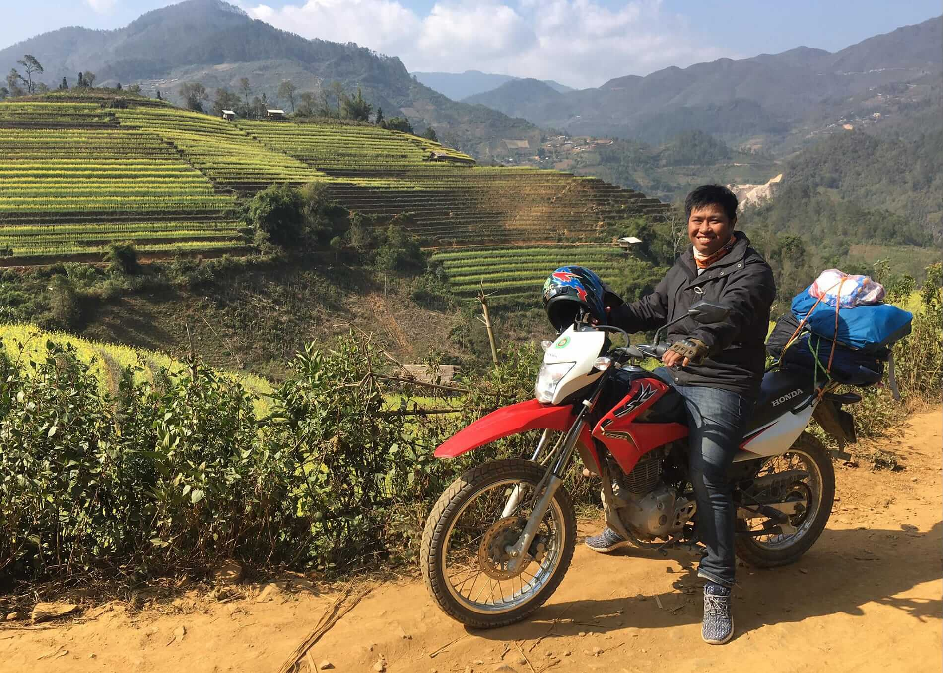 motorbike tour on the northern mountains of Vietnam