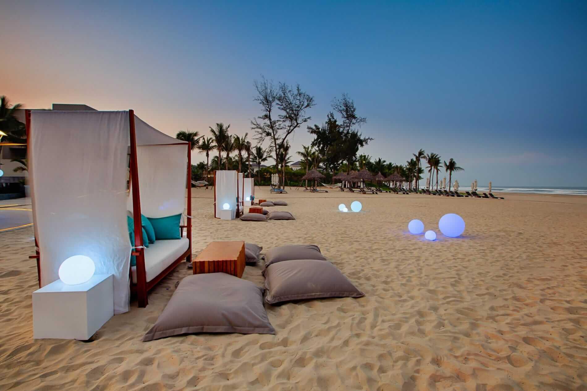 Romantic outdoor seating at Pullman Resort Da Nang