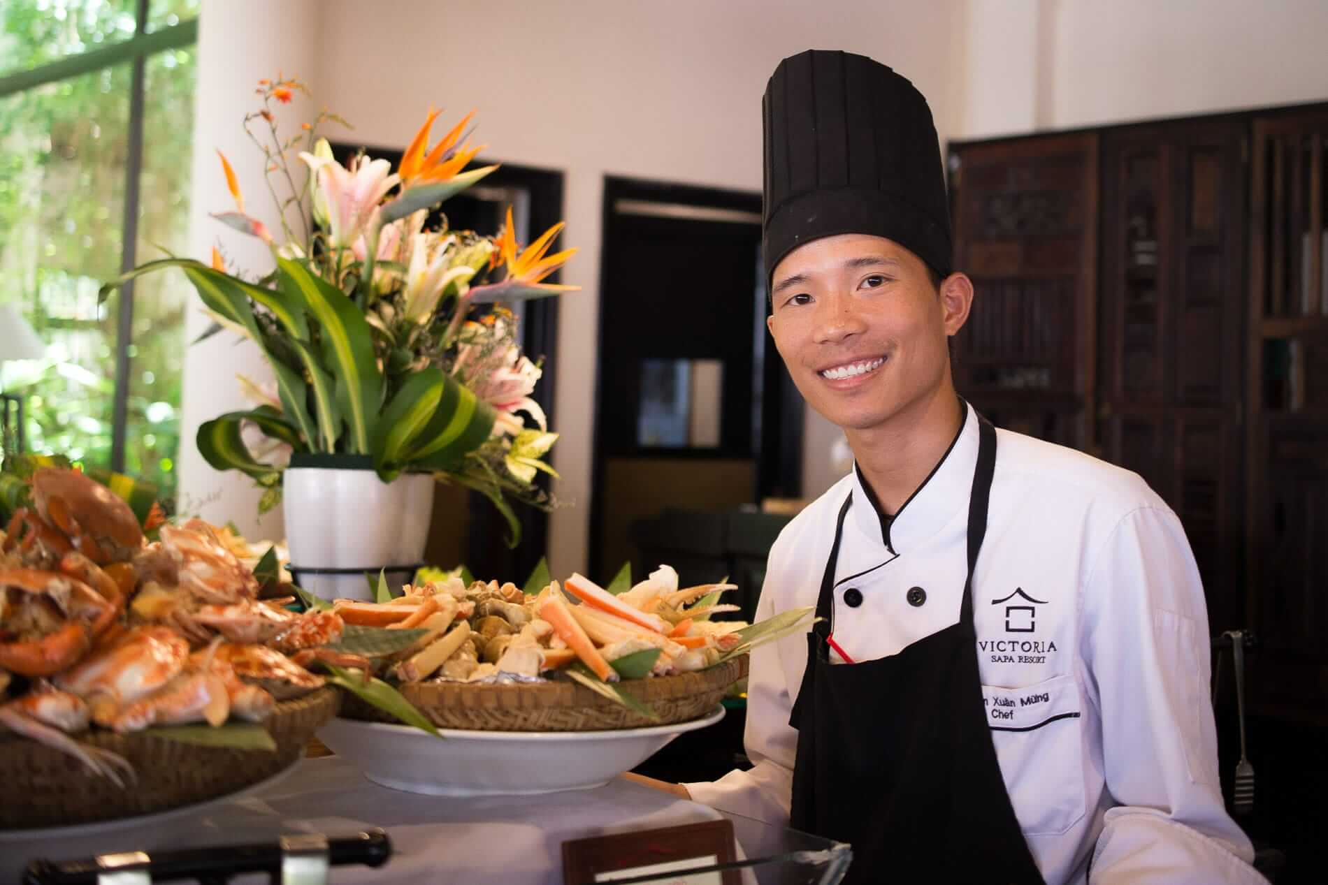 A chef poses for VIctoria Resort Hoi An