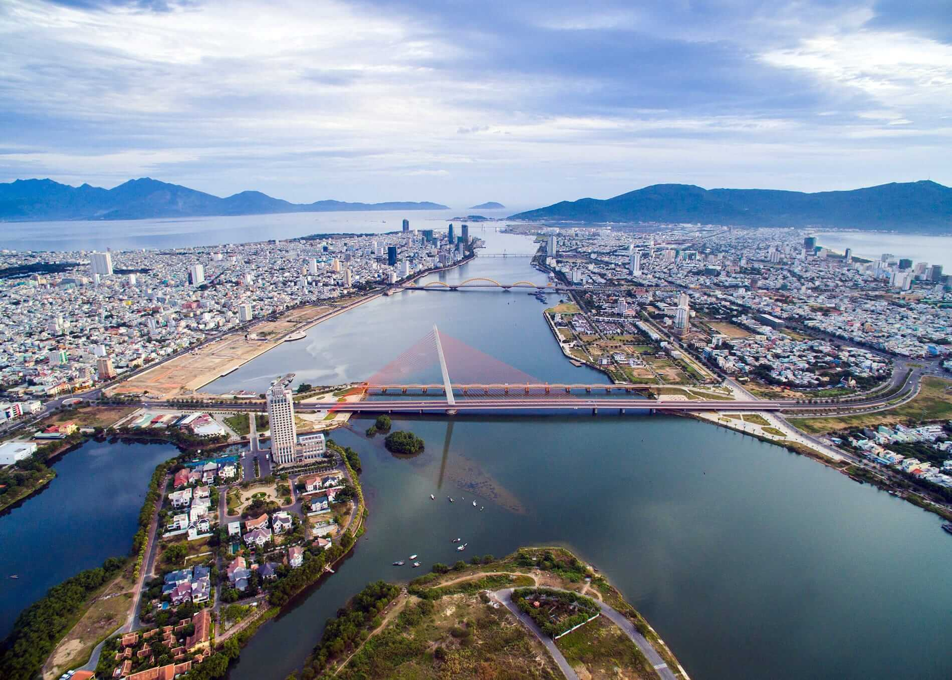 Da Nang bridges from the air