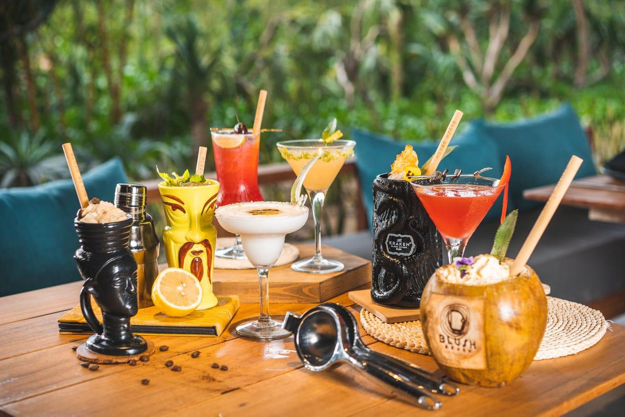 Tropical cocktails at Blush Beach