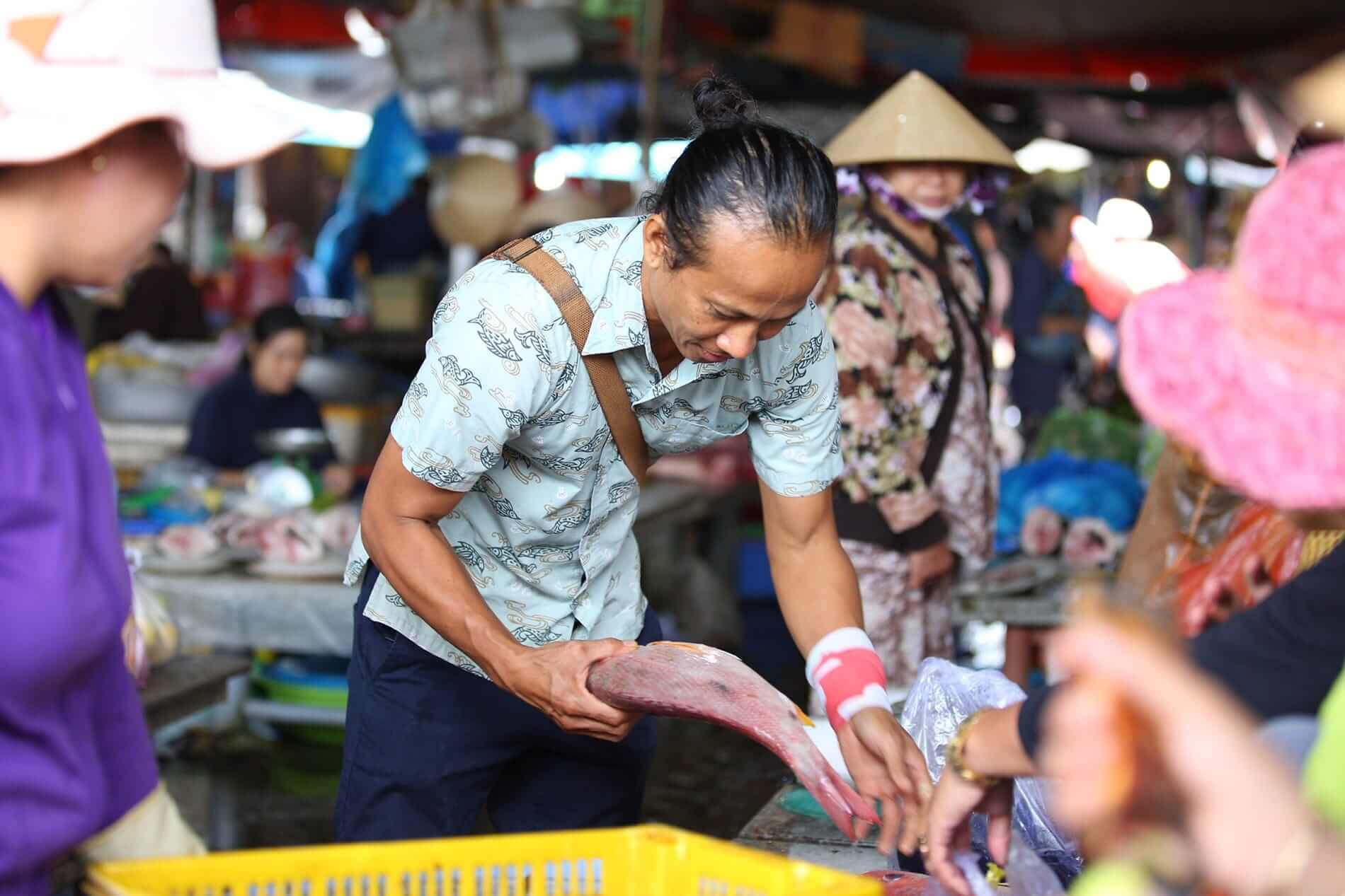 Visiting the market in Hoi An