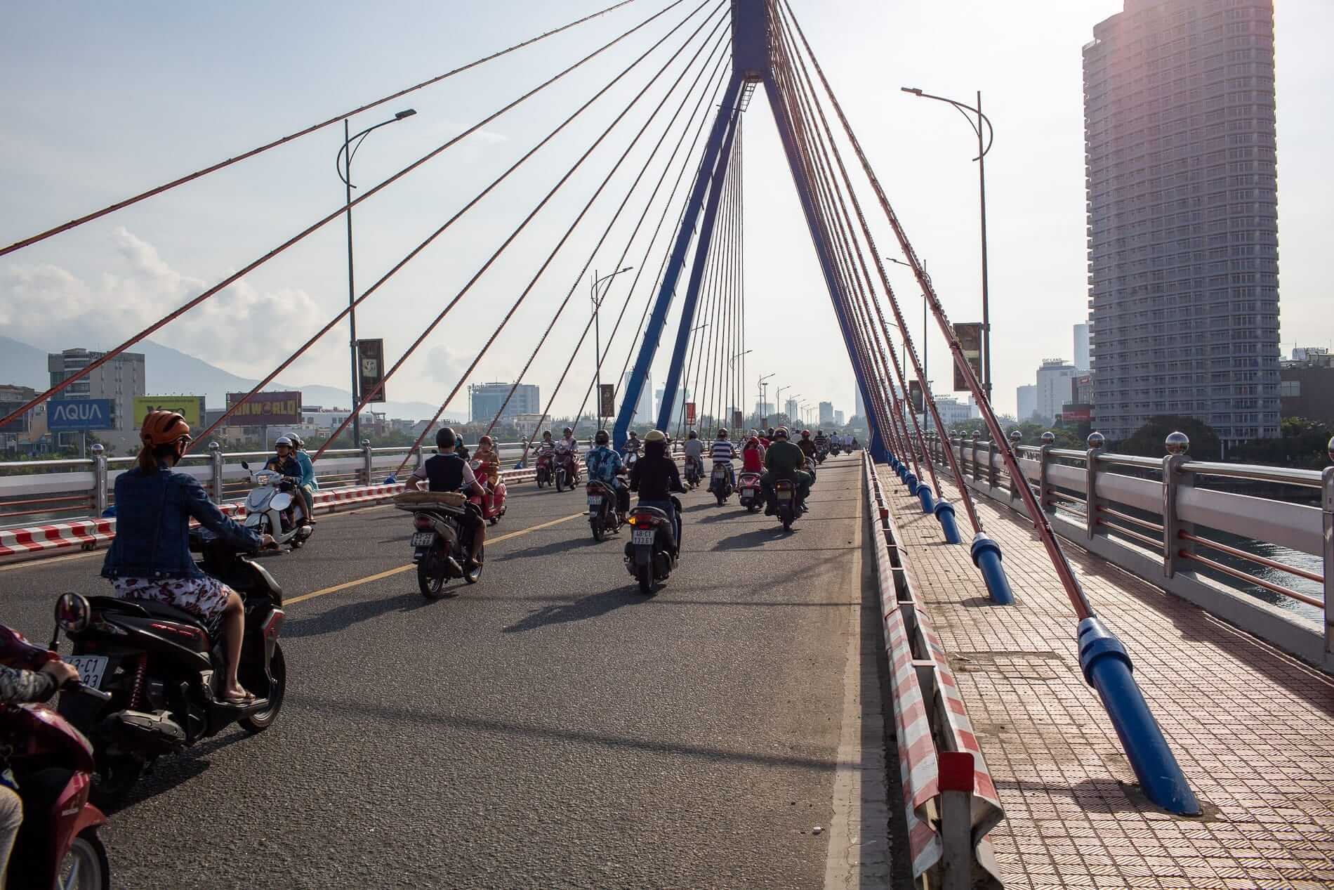 The Swing Bridge in Da Nang